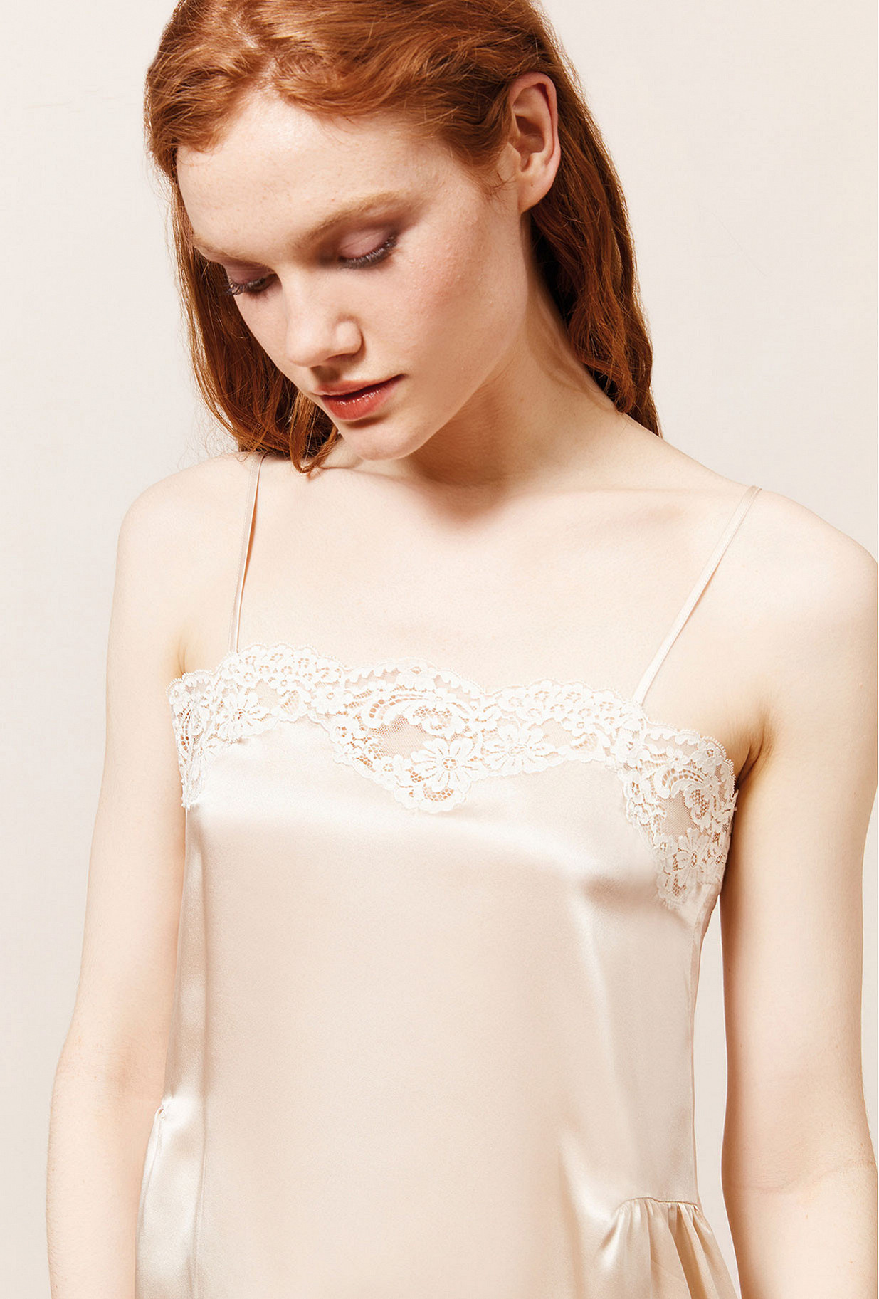 Top Gaufre Mes Demoiselles color Ivory
