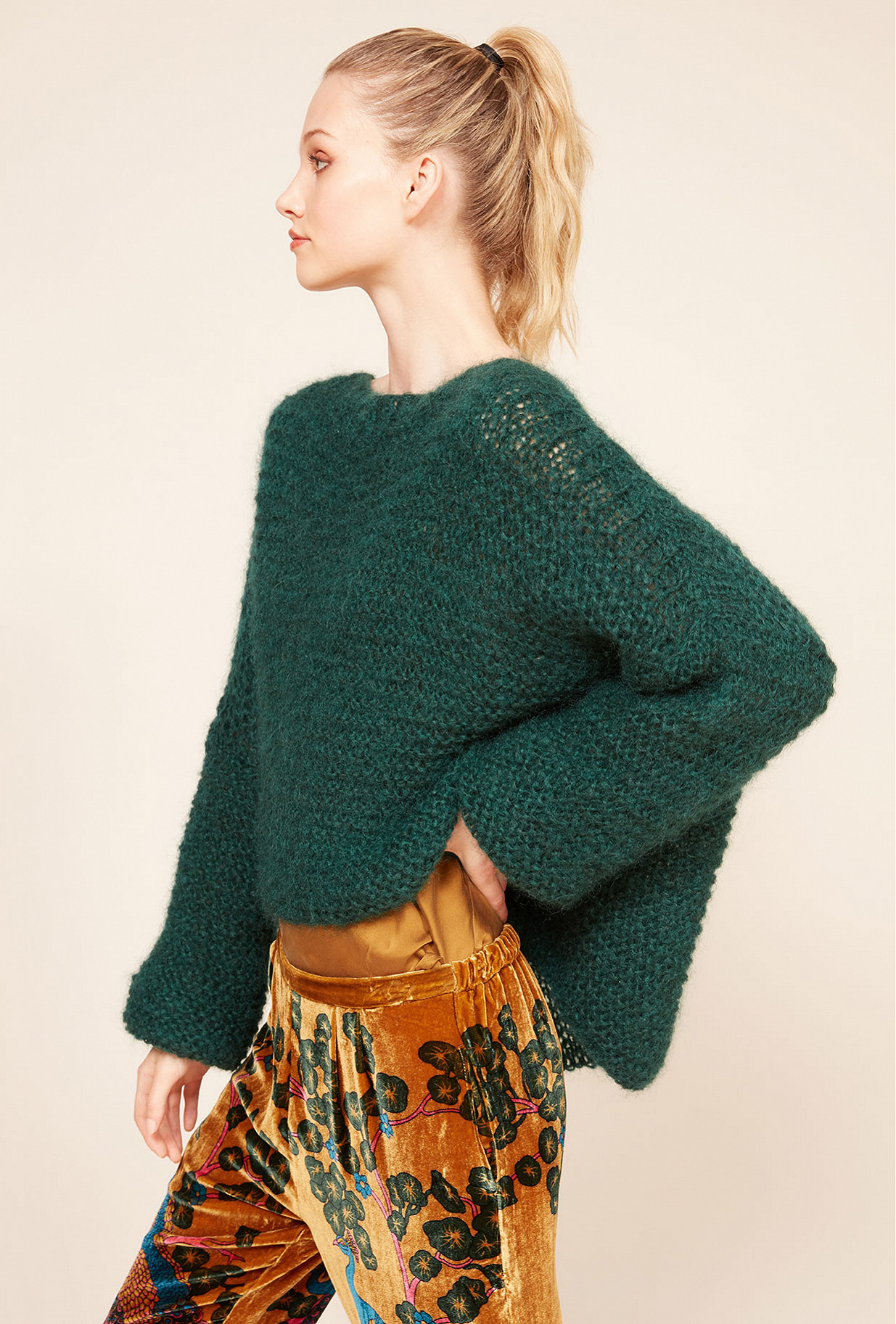 Green  Sweater  Crecelle Mes demoiselles fashion clothes designer Paris
