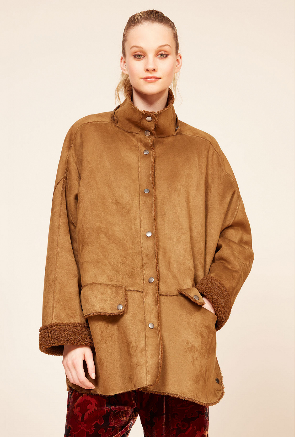 Khaki  Coat  Guevara Mes demoiselles fashion clothes designer Paris