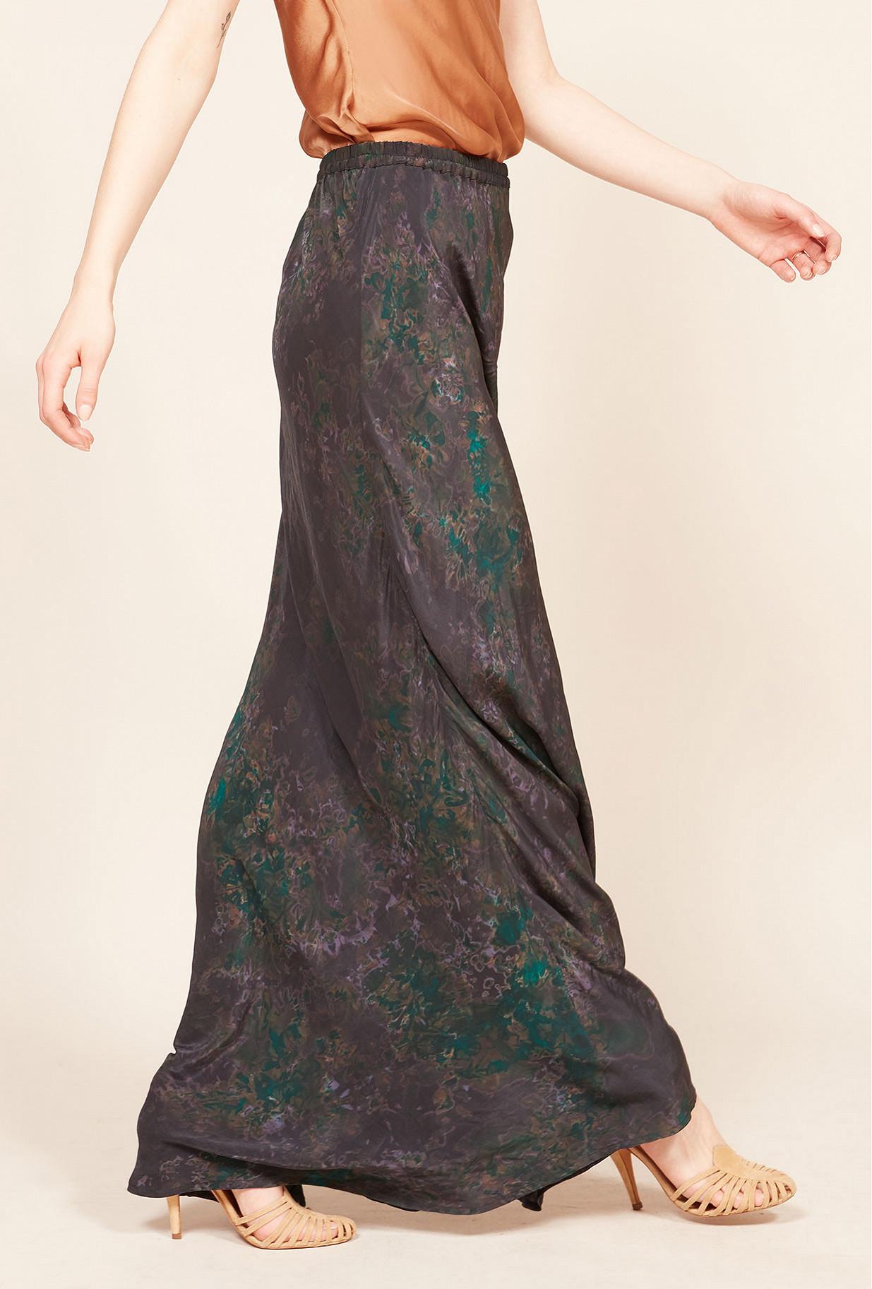 Jupe Imprimé violet  Makari mes demoiselles paris vêtement femme paris