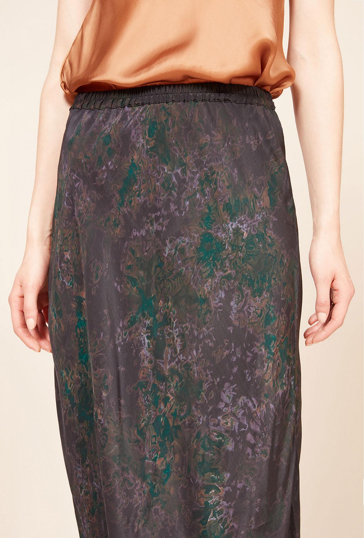 Purple print Skirt Makari
