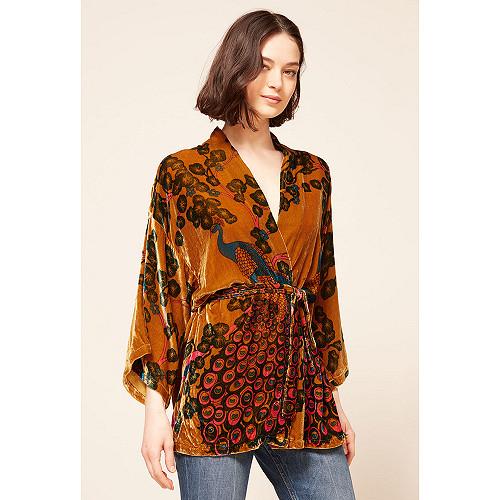 Ocre print Kimono Panoptes