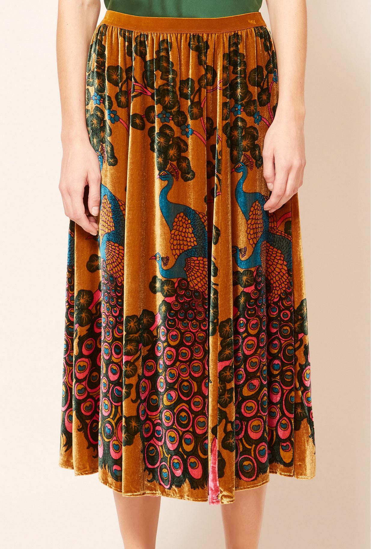 Ocre print  Skirt  Parade Mes demoiselles fashion clothes designer Paris