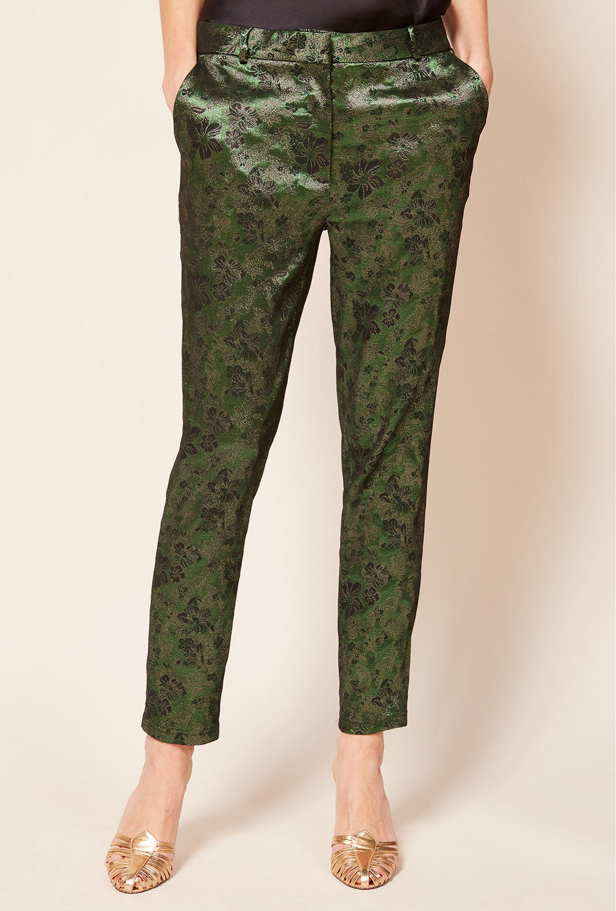 Print green pant Vince
