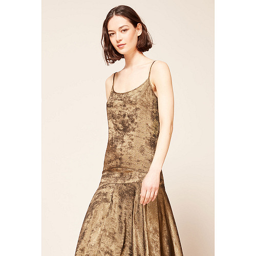Bronze  Dress  Ginger Mes demoiselles fashion clothes designer Paris