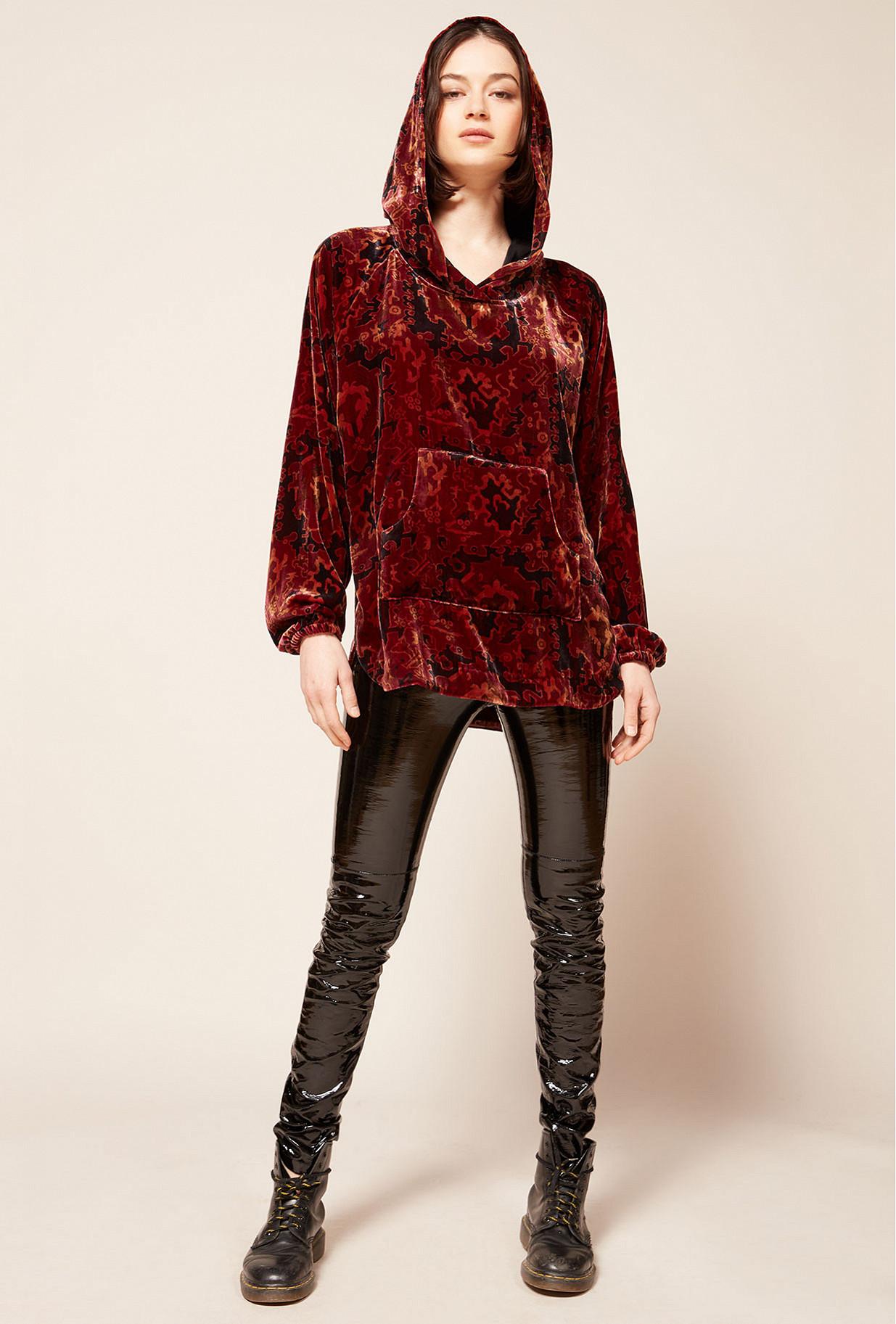 Pull Imprimé rouge  Aubusson mes demoiselles paris vêtement femme paris