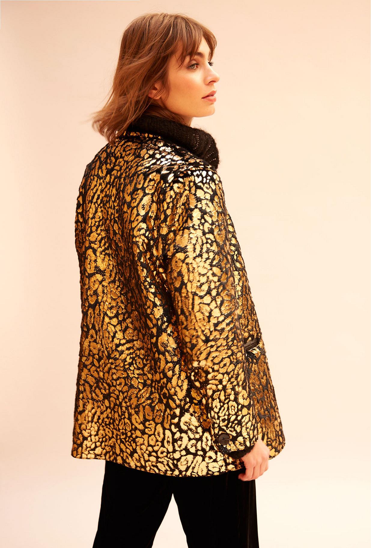 Gold  Jacket  Blondie Mes demoiselles fashion clothes designer Paris