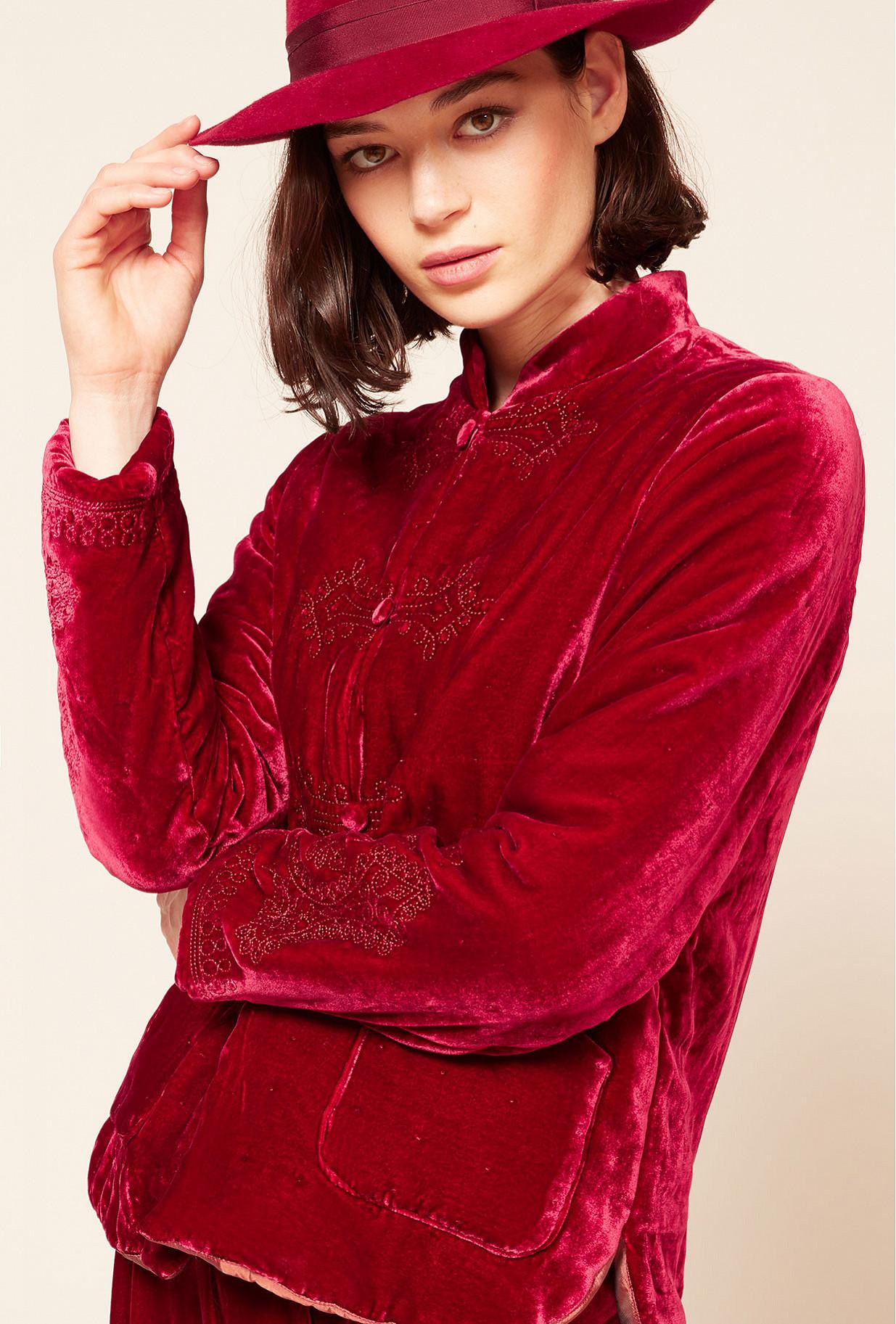 Red  Jacket  March Mes demoiselles fashion clothes designer Paris