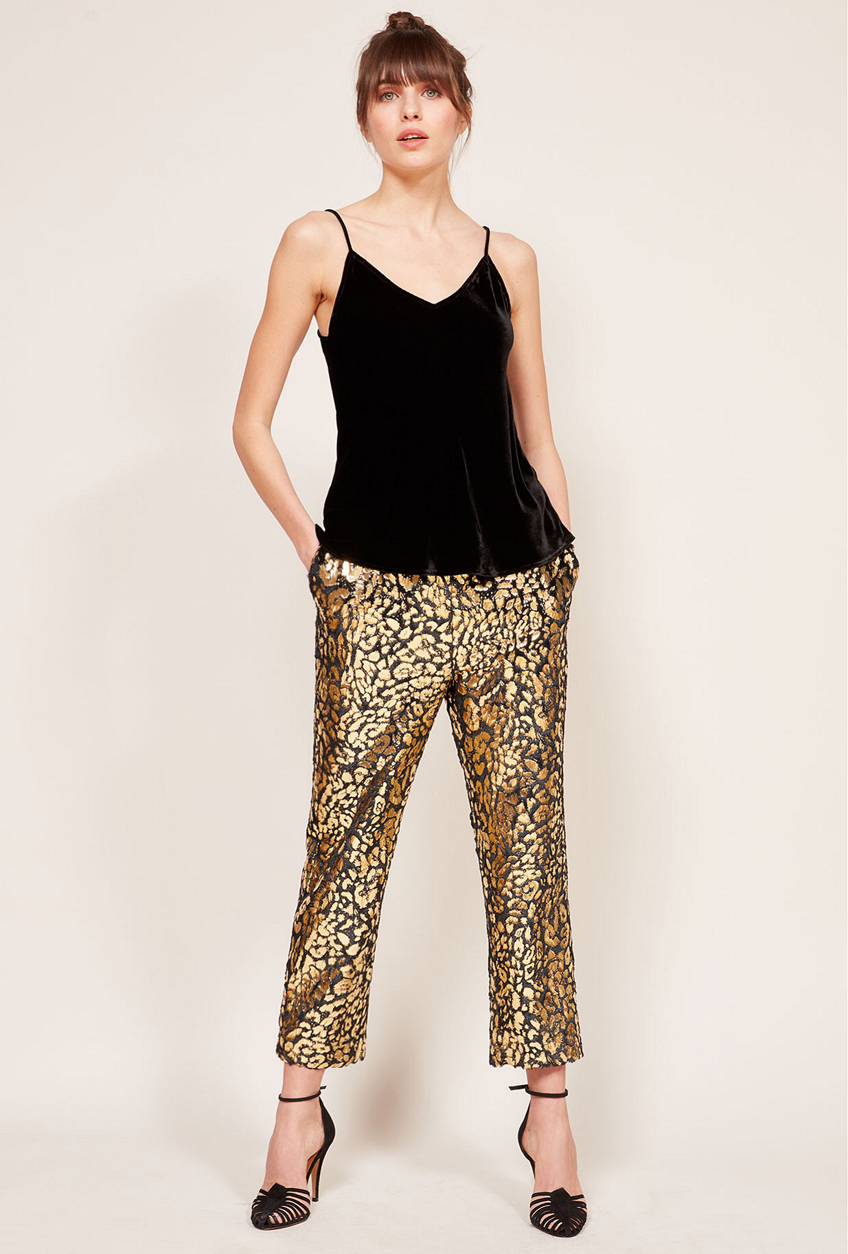 Gold  pant  Beastie Mes demoiselles fashion clothes designer Paris