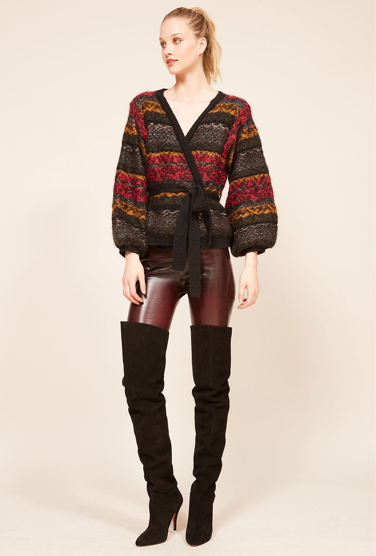 Black combo Cardigan Jean Paul Mes Demoiselles Paris