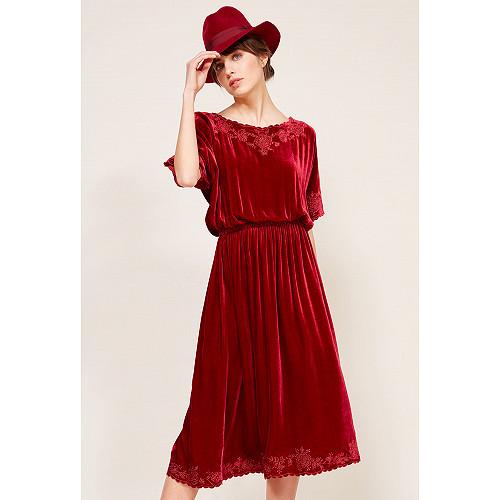 Red  Dress  May Mes demoiselles fashion clothes designer Paris