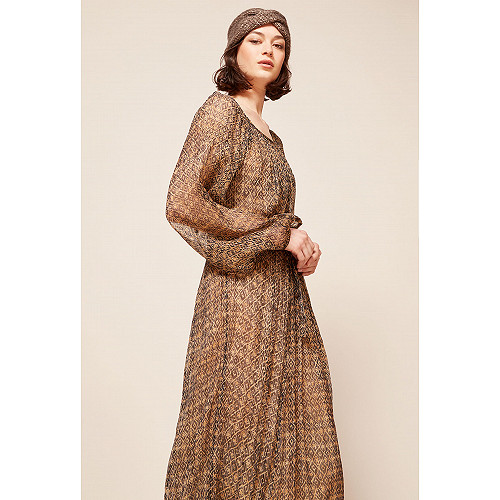 Brown print Dress Raissa Mes Demoiselles Paris