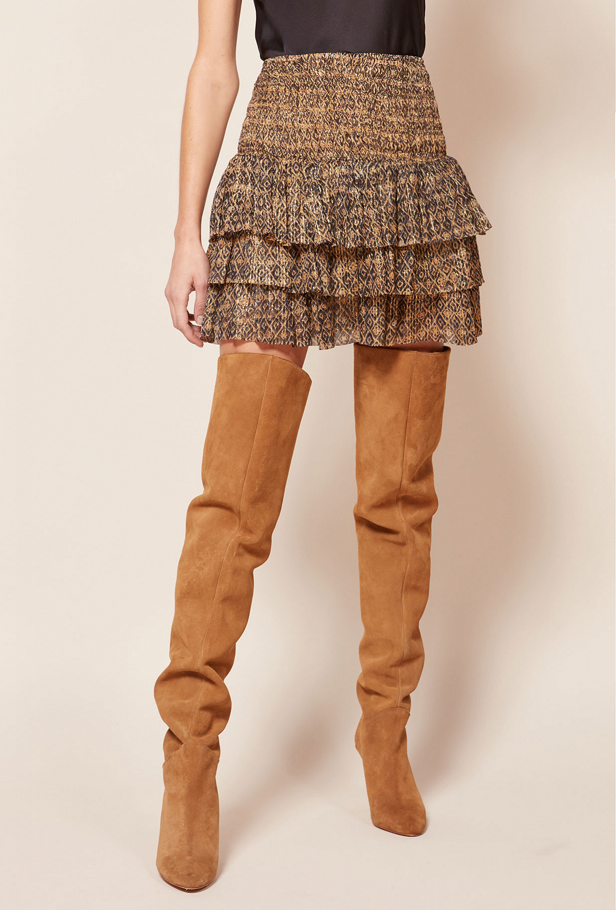 Brown print Skirt Rania Mes Demoiselles Paris
