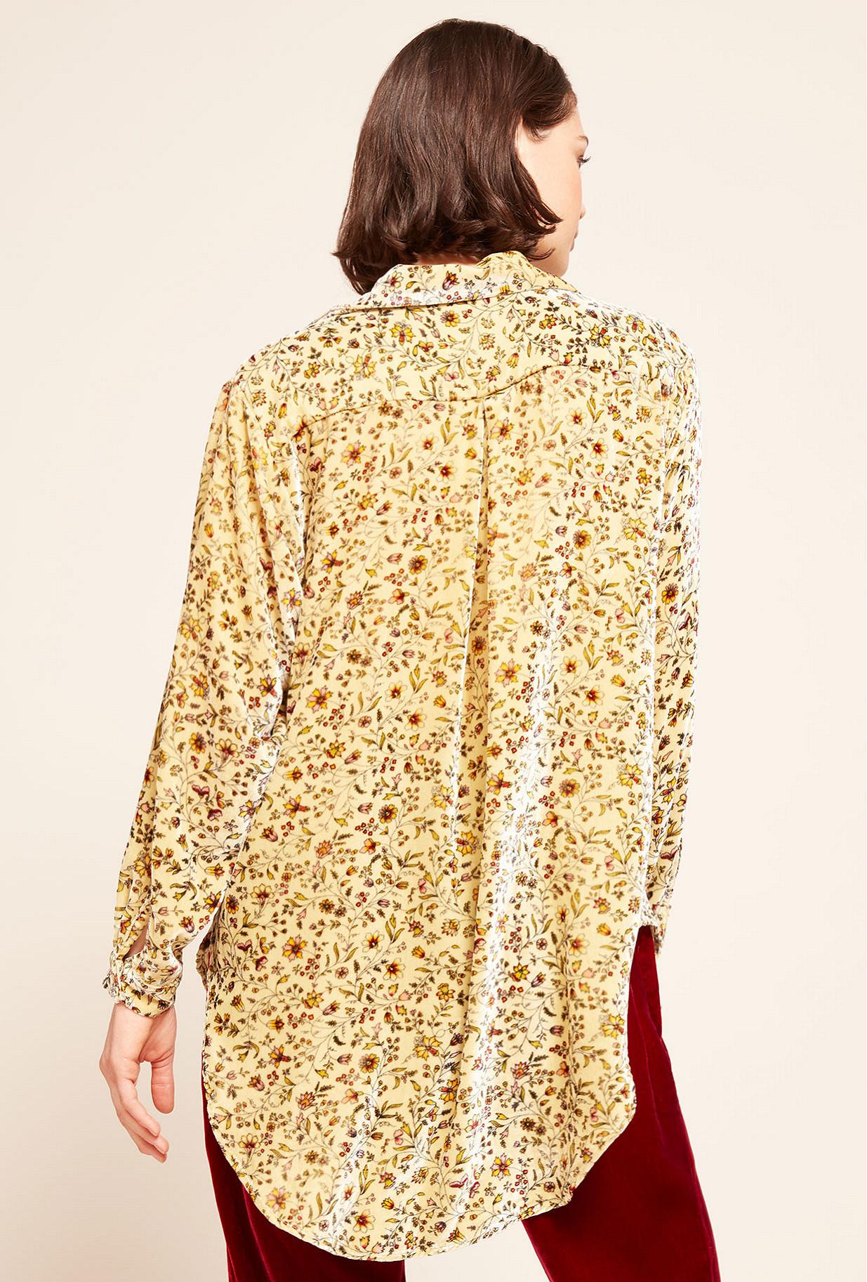 Floral print  Shirt  Zinnia Mes demoiselles fashion clothes designer Paris