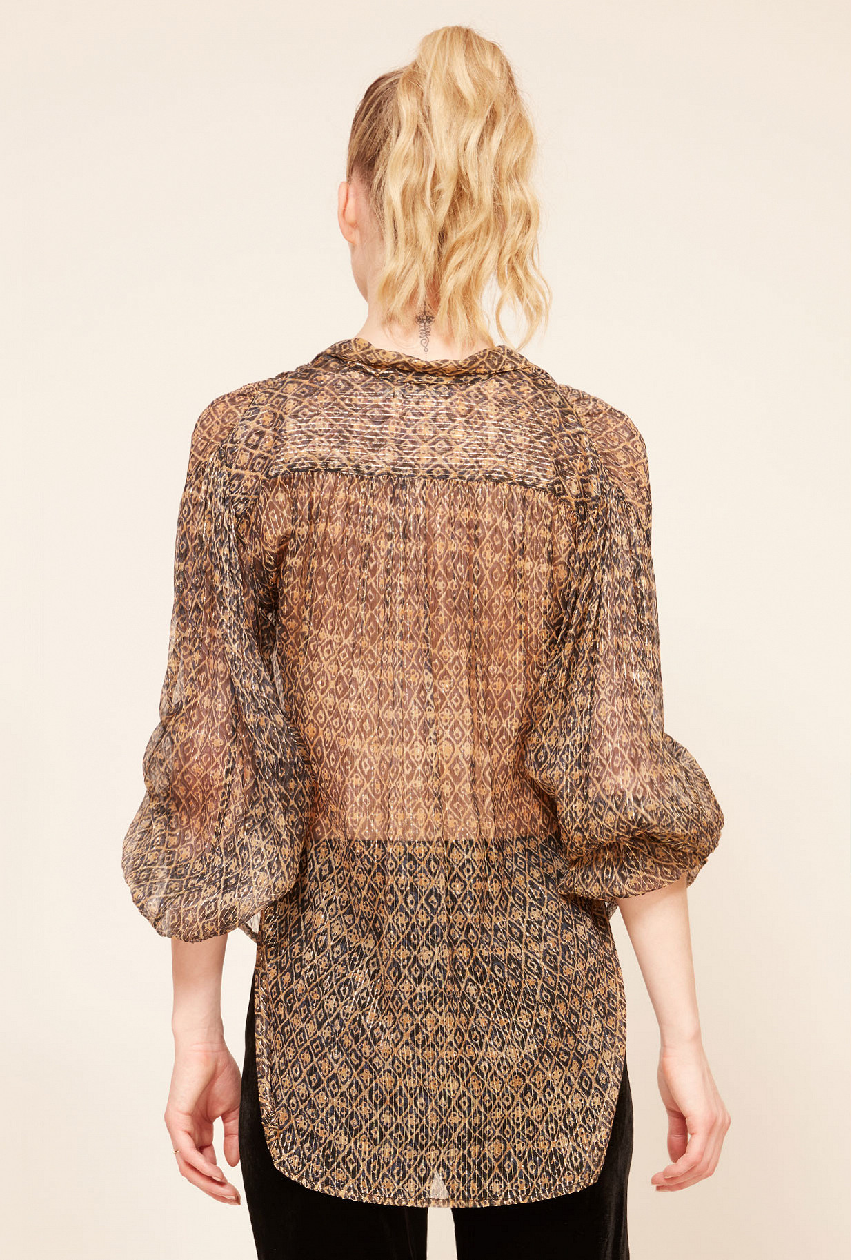 Brown print  Shirt  Romuald Mes demoiselles fashion clothes designer Paris