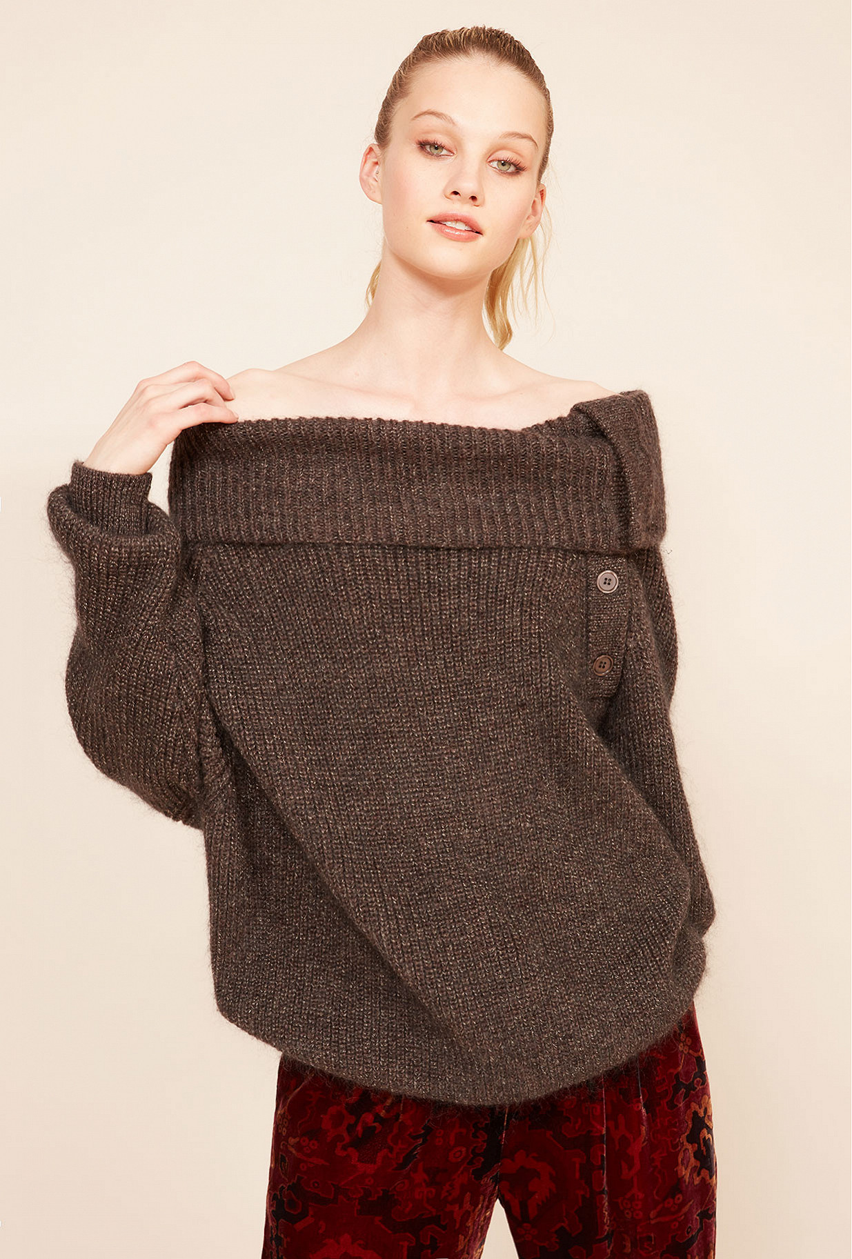Brown  Sweater  Saiph Mes demoiselles fashion clothes designer Paris