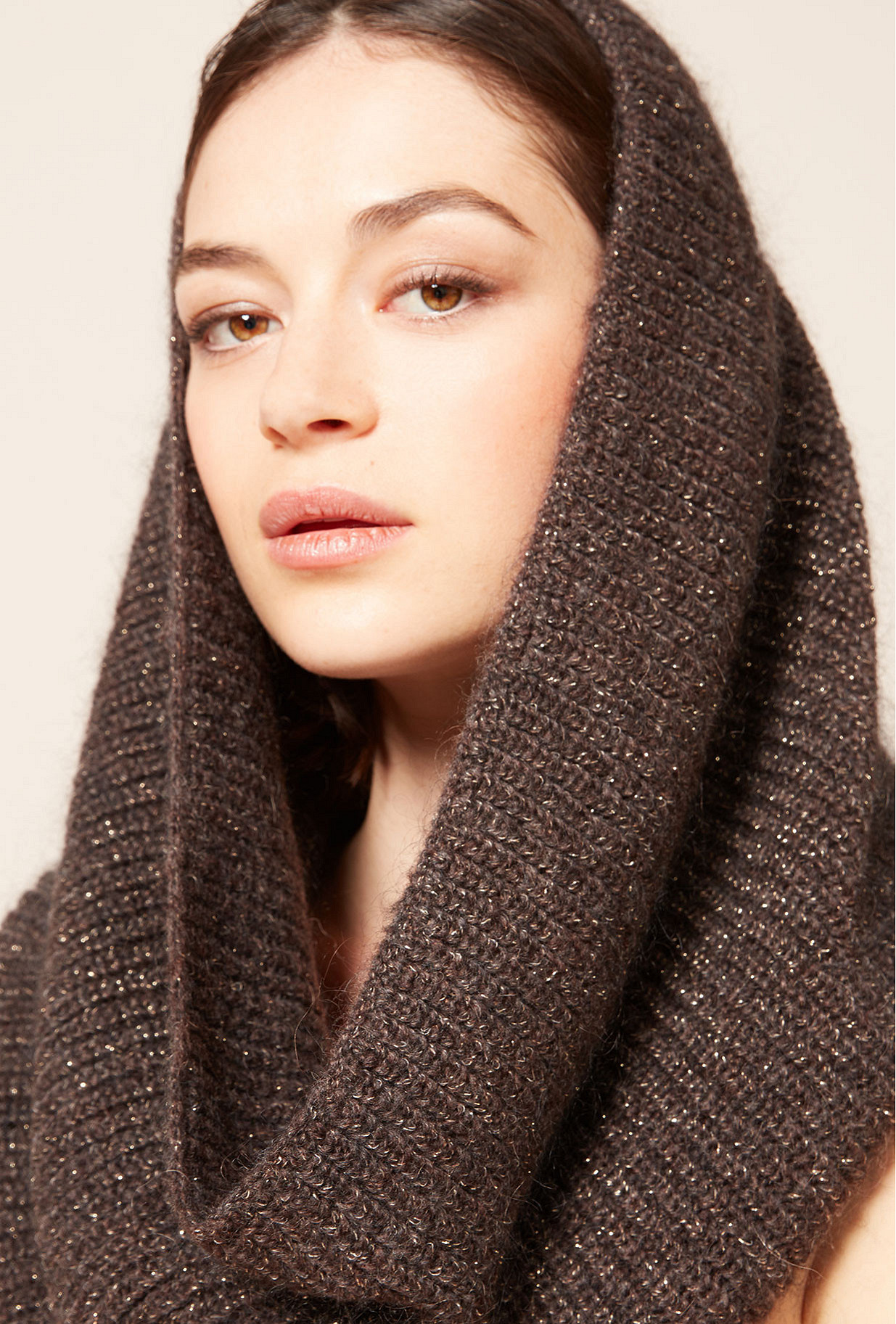 Brown  Scarf  Segin Mes demoiselles fashion clothes designer Paris