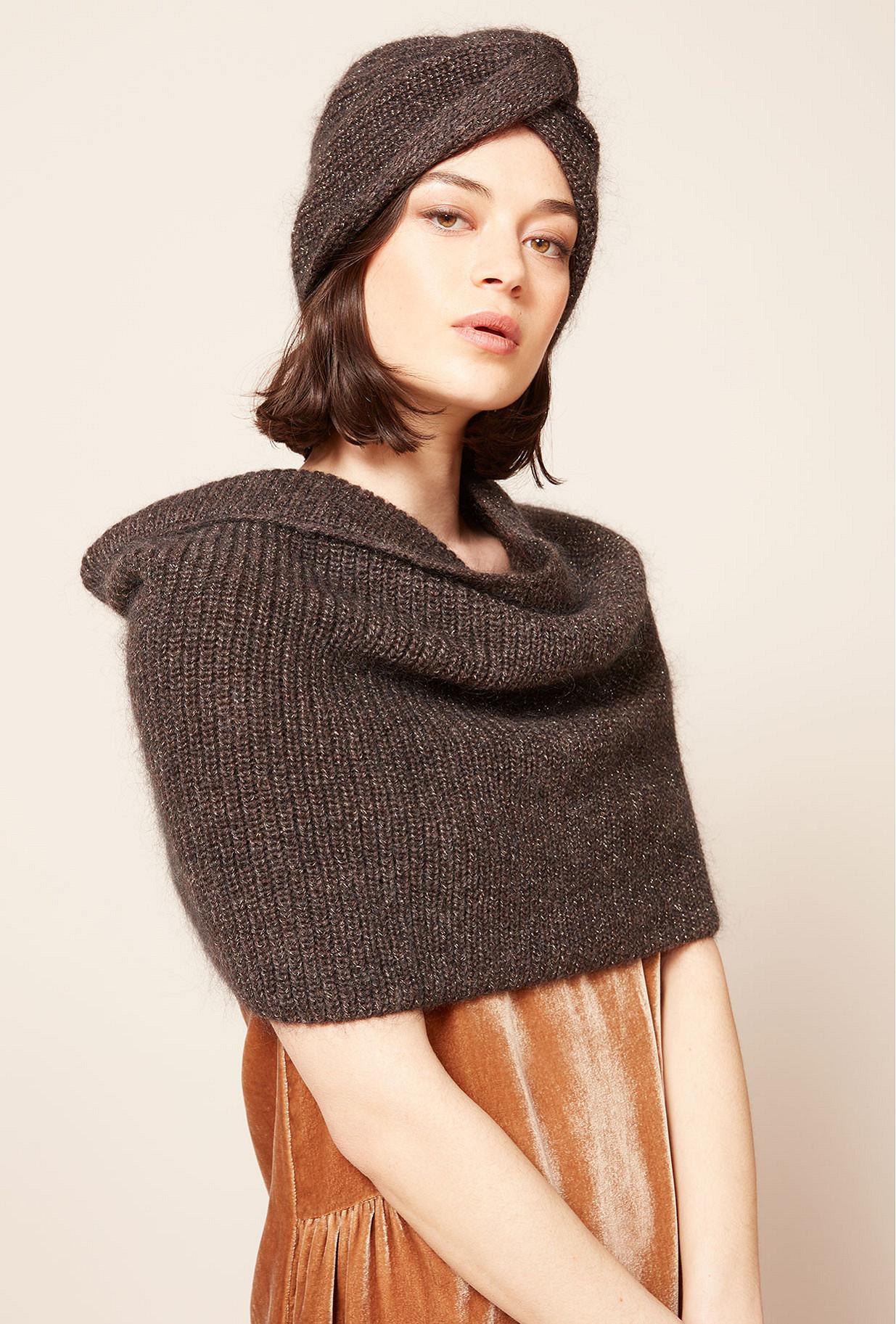 Brown  Beanie  Spica Mes demoiselles fashion clothes designer Paris