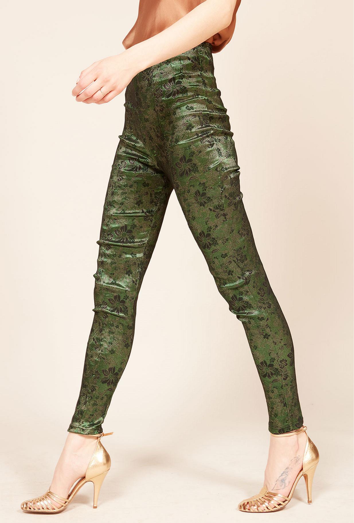 Print green  pant  Veronika Mes demoiselles fashion clothes designer Paris