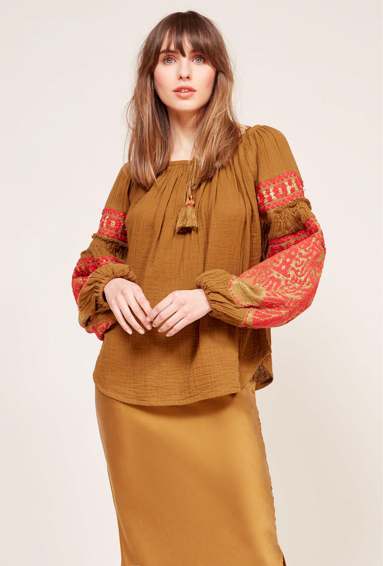 Khaki  Blouse  Kremlin Mes demoiselles fashion clothes designer Paris