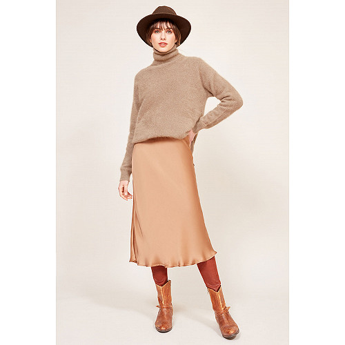Chestnut  Skirt  Lima Mes demoiselles fashion clothes designer Paris