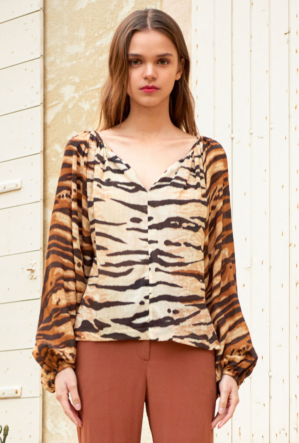 Tiger  Blouse  Birmania Mes demoiselles fashion clothes designer Paris