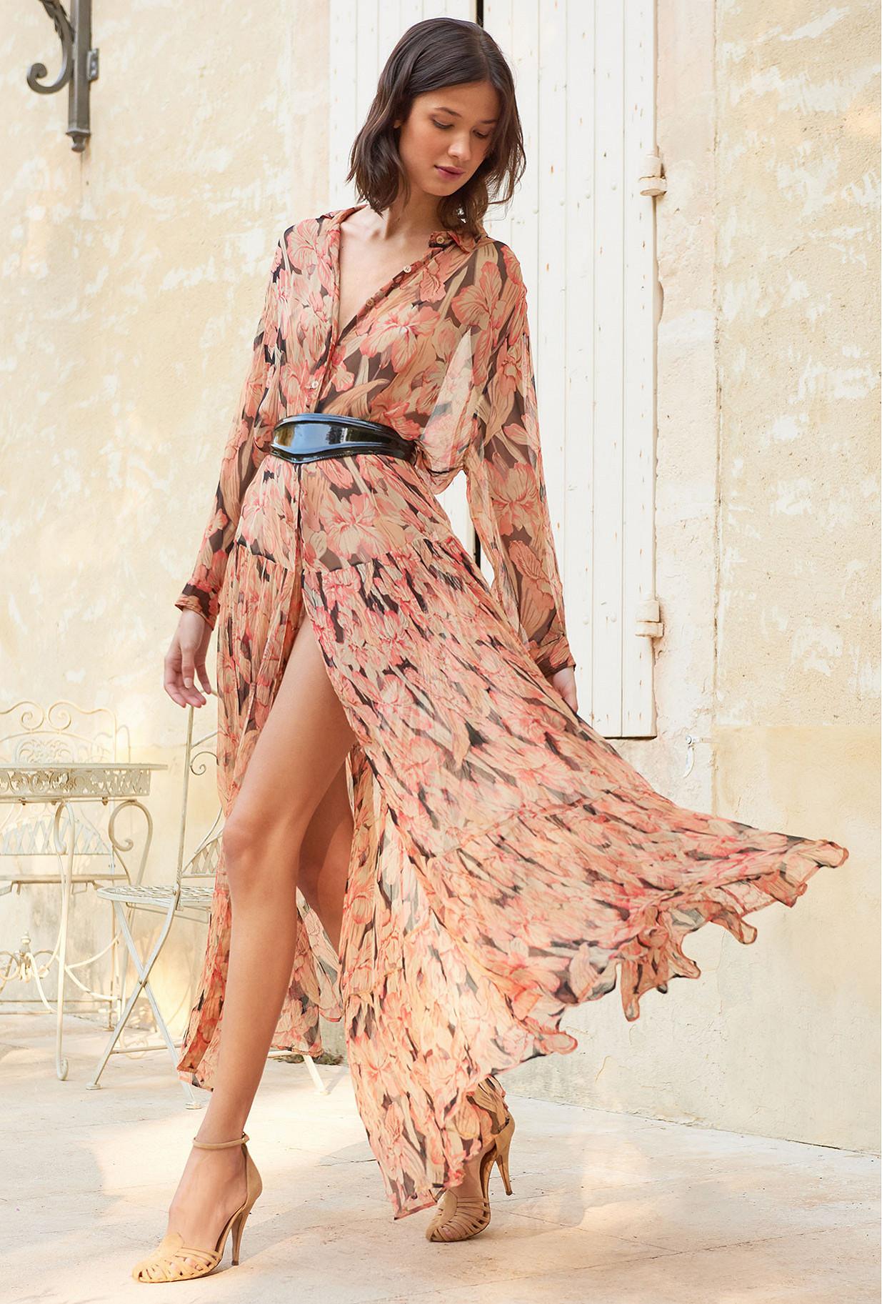 Floral print  Dress  Cerasi Mes demoiselles fashion clothes designer Paris