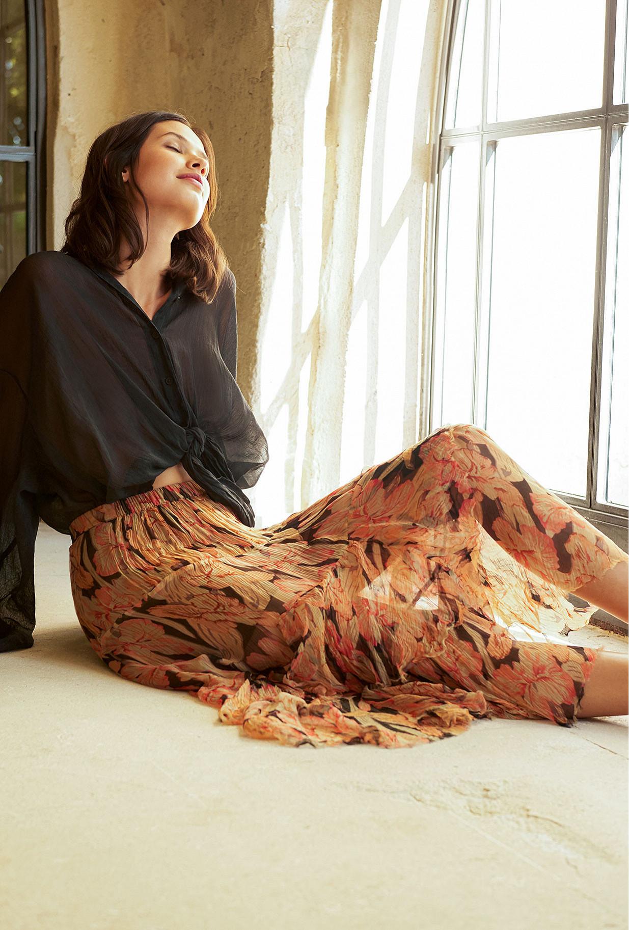 Floral print Skirt Clematis Mes Demoiselles Paris