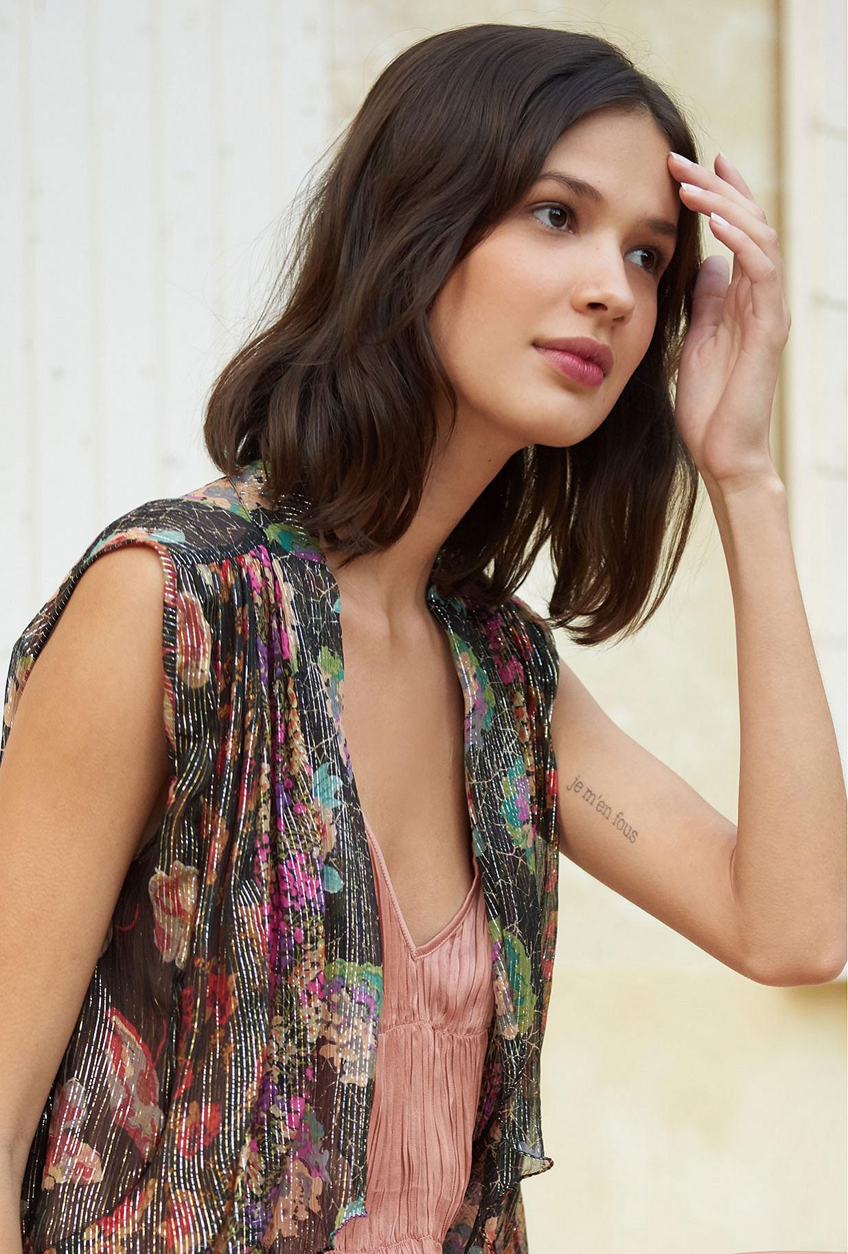 Top Fasta Mes Demoiselles color Floral print