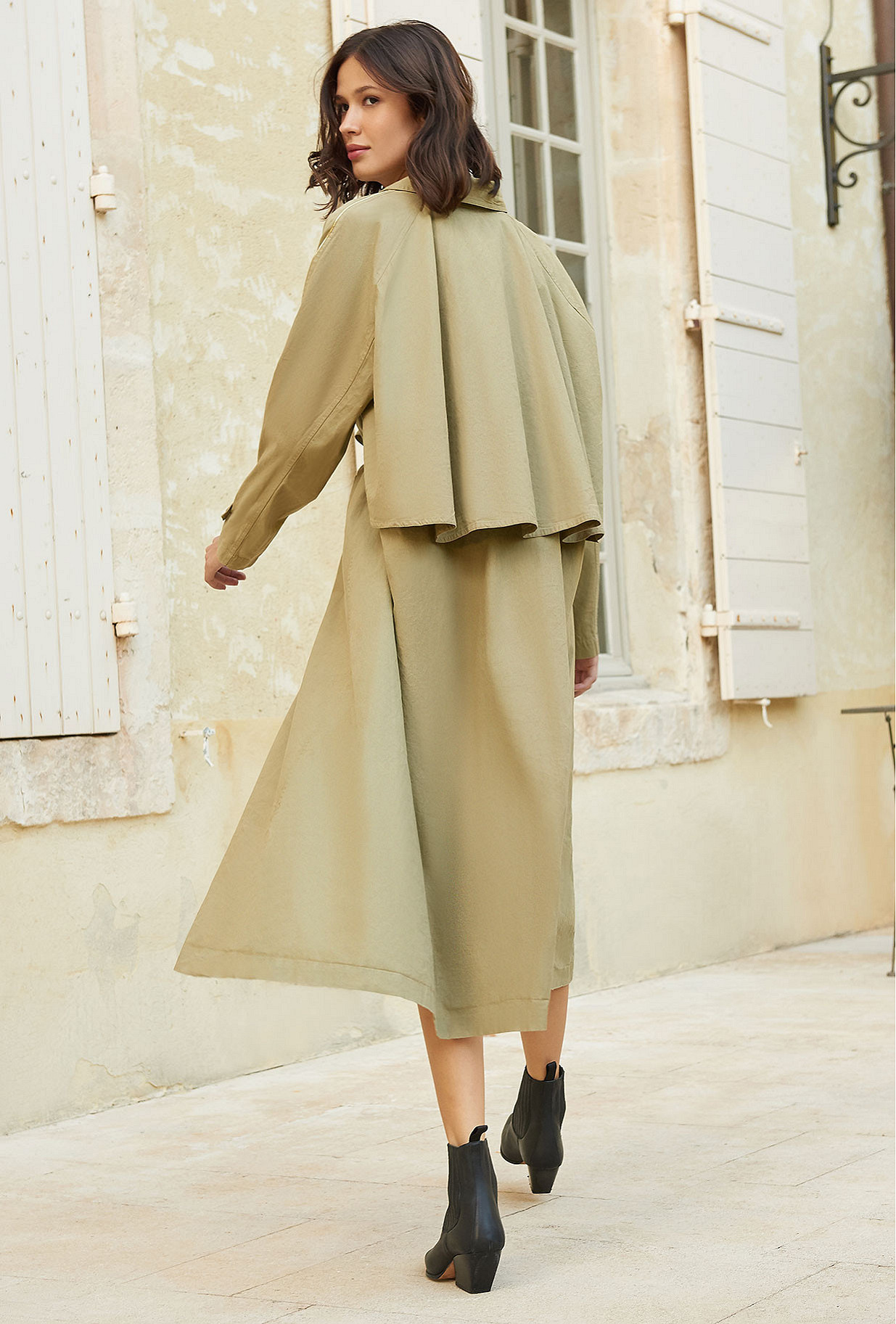 Beige  Coat  Kalahari Mes demoiselles fashion clothes designer Paris