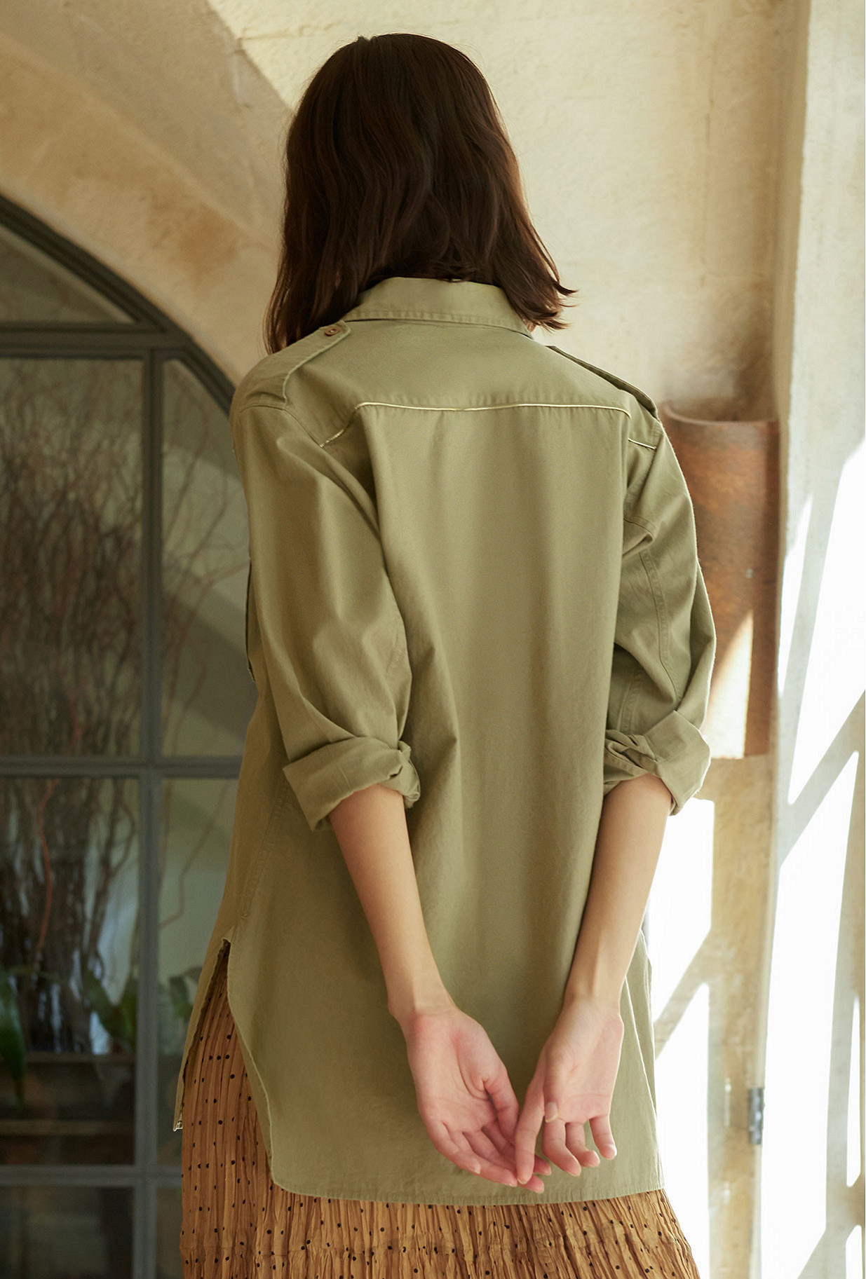 Shirt Karagol Mes Demoiselles color Beige