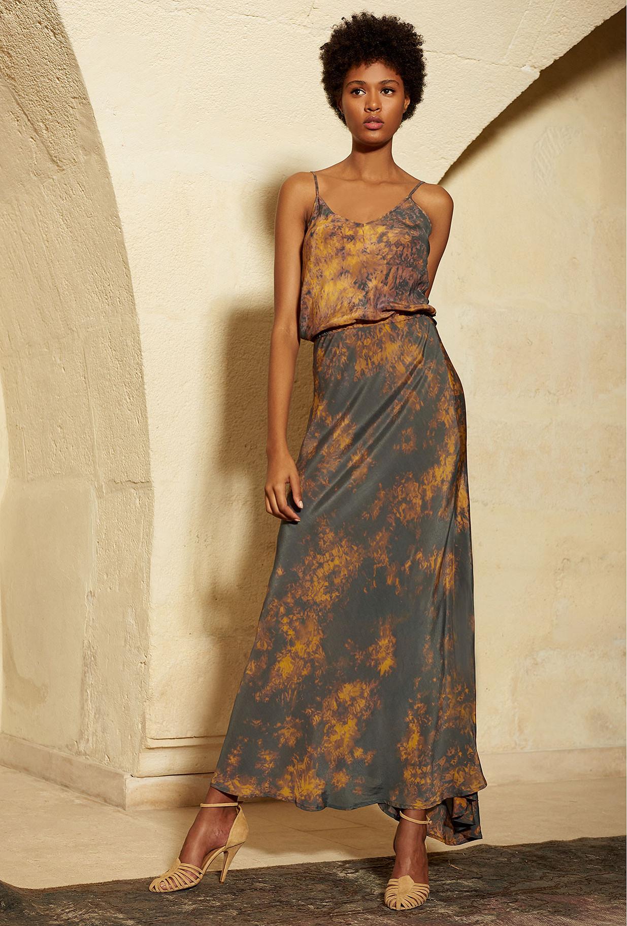 Dress Marmara Mes Demoiselles color Grey print