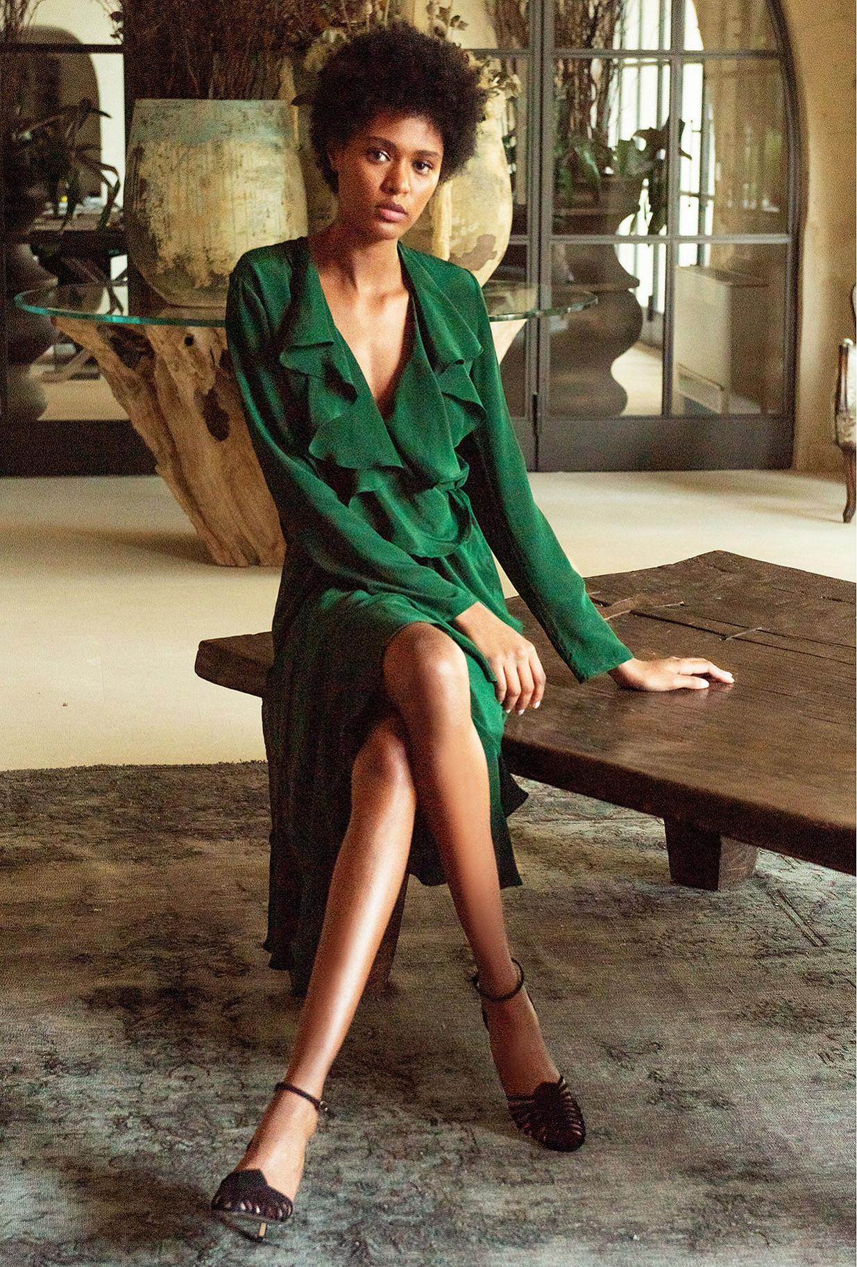Robe Vert  Exauce mes demoiselles paris vêtement femme paris