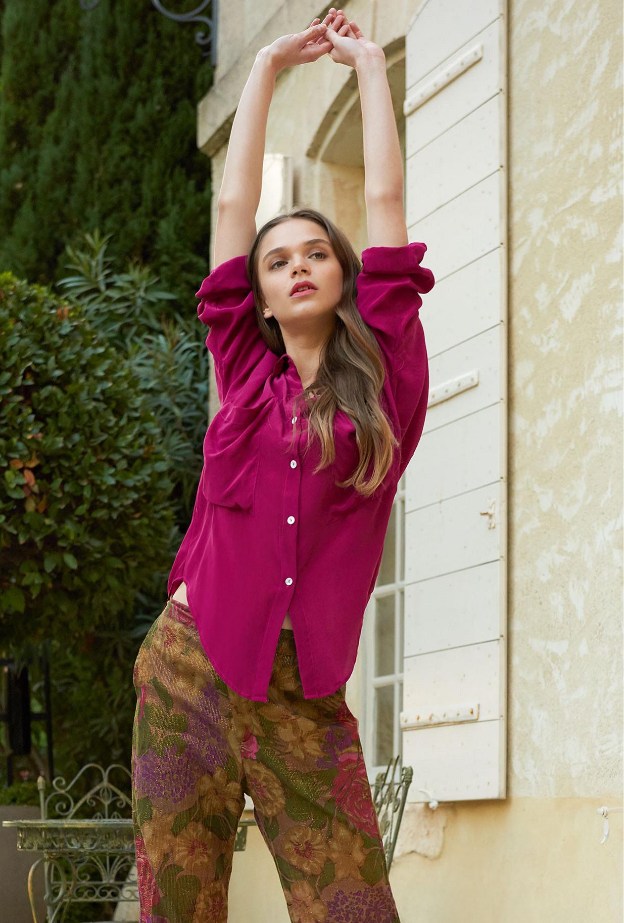 Fushia  Shirt  Exaclibur Mes demoiselles fashion clothes designer Paris