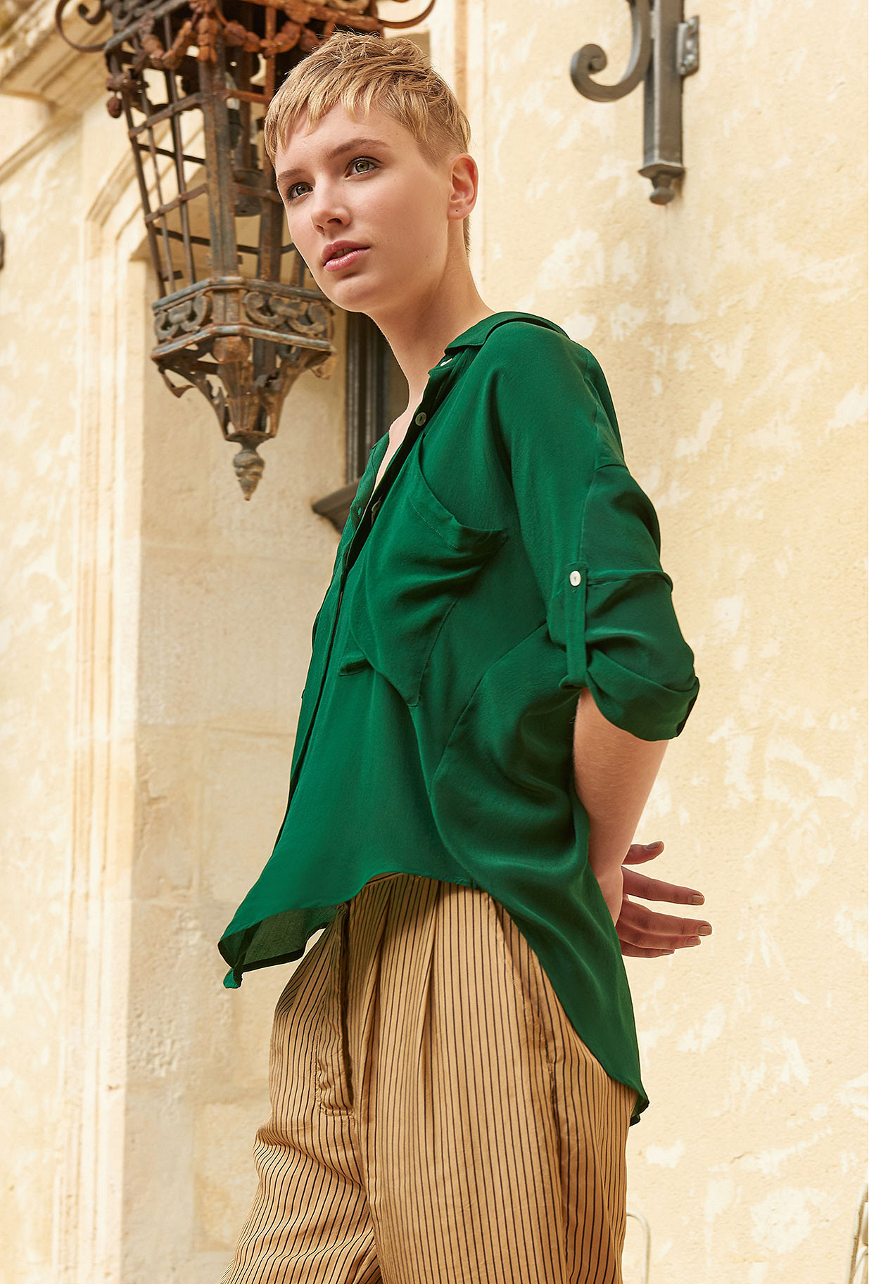 Green  Shirt  Exaclibur Mes demoiselles fashion clothes designer Paris