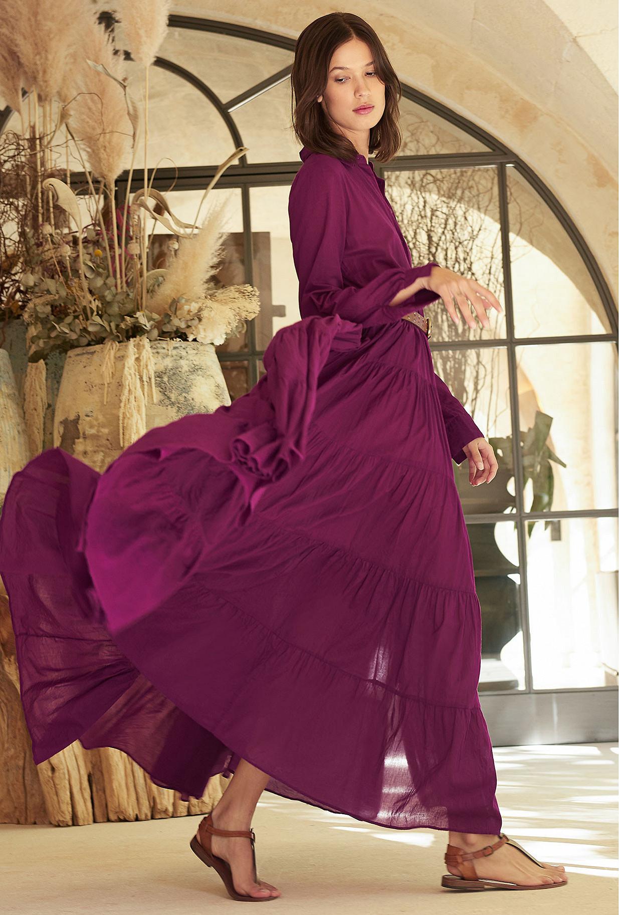 Robe Violet  Calam mes demoiselles paris vêtement femme paris