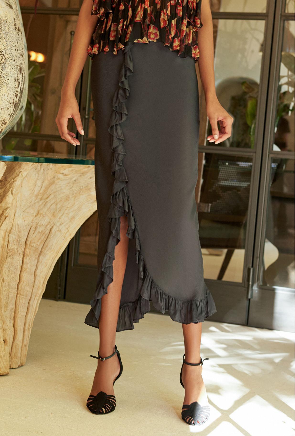 Black  Skirt  Cantal Mes demoiselles fashion clothes designer Paris