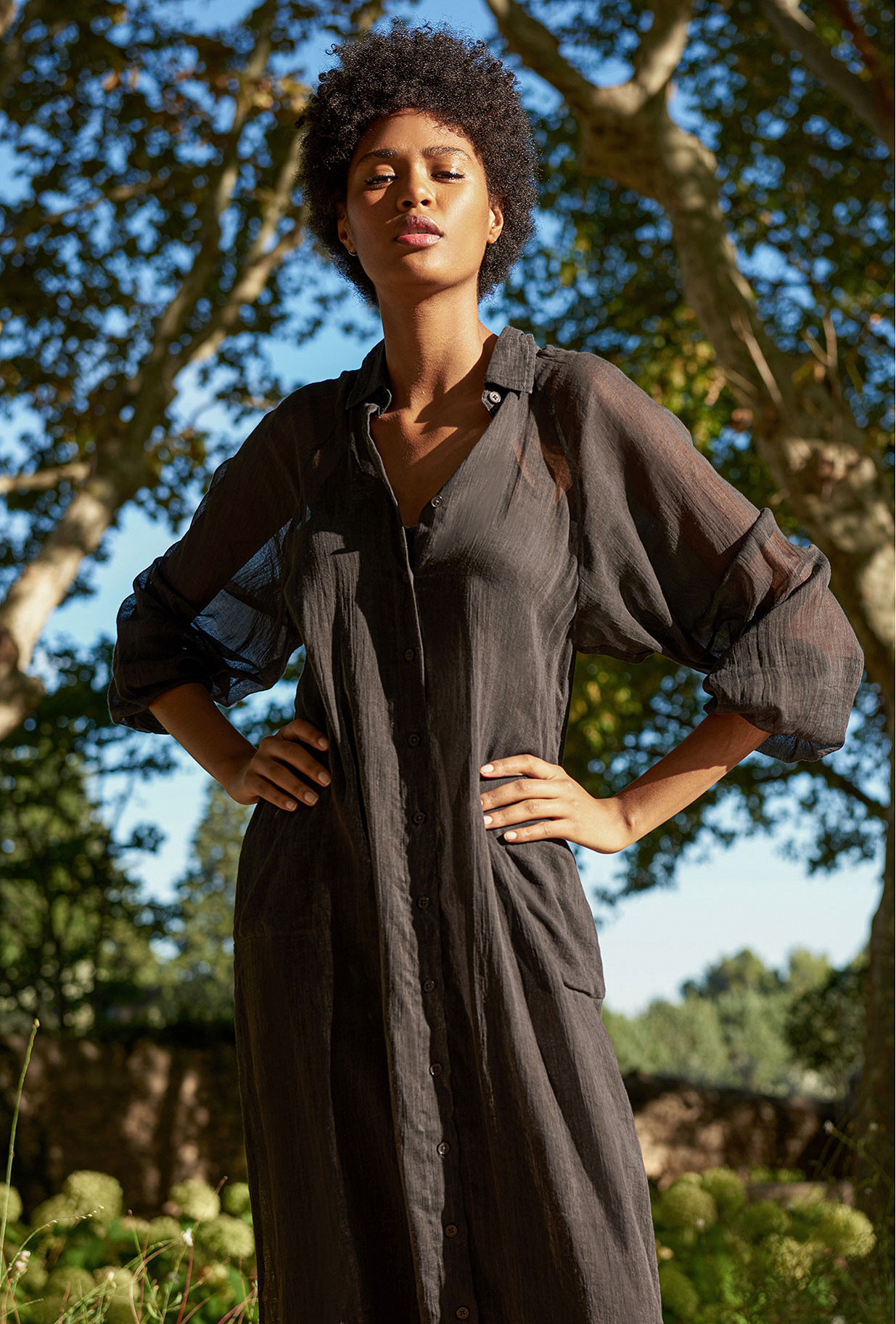 Charcoal  Dress  Chambellan Mes demoiselles fashion clothes designer Paris