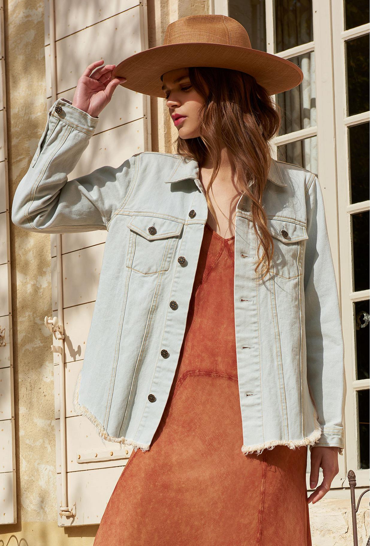 Light blue  Jacket  Cabriere Mes demoiselles fashion clothes designer Paris