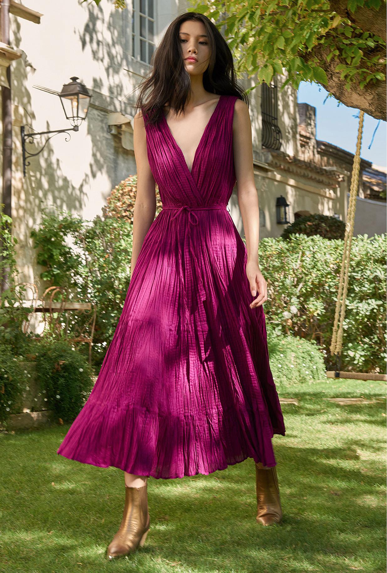 Robe Violet  Colchique mes demoiselles paris vêtement femme paris