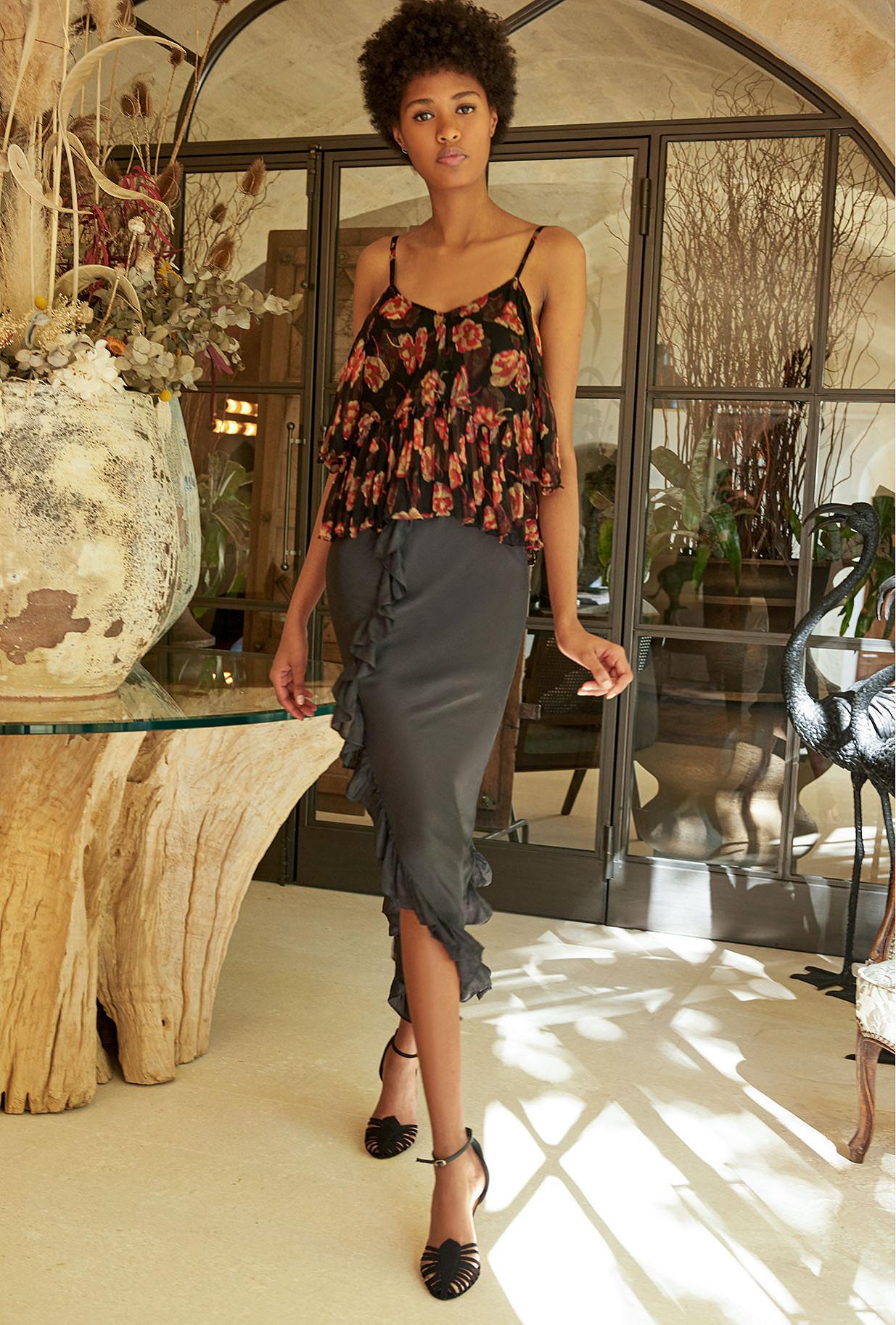 Floral print  Top  Lillian Mes demoiselles fashion clothes designer Paris