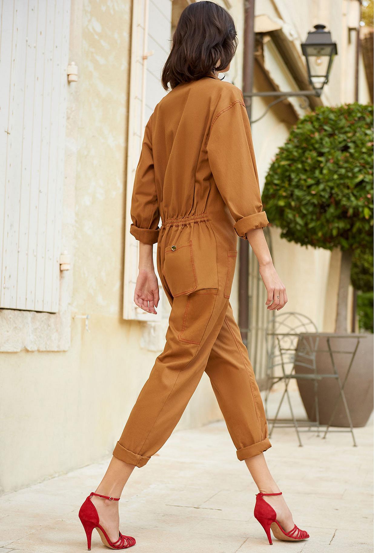 Khaki  Jumpsuit  Luigi Mes demoiselles fashion clothes designer Paris