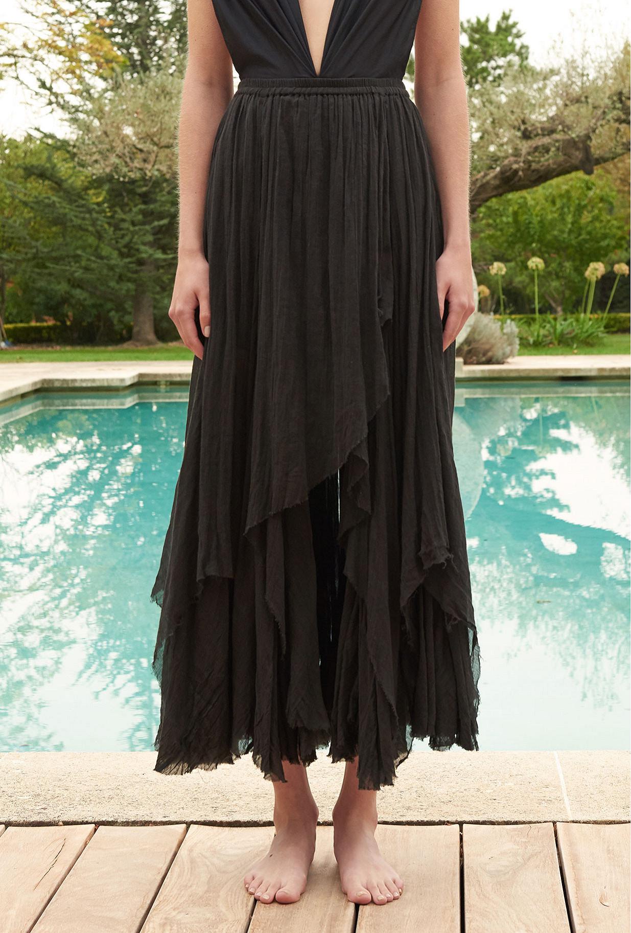 Black  Skirt  Versatile Mes demoiselles fashion clothes designer Paris