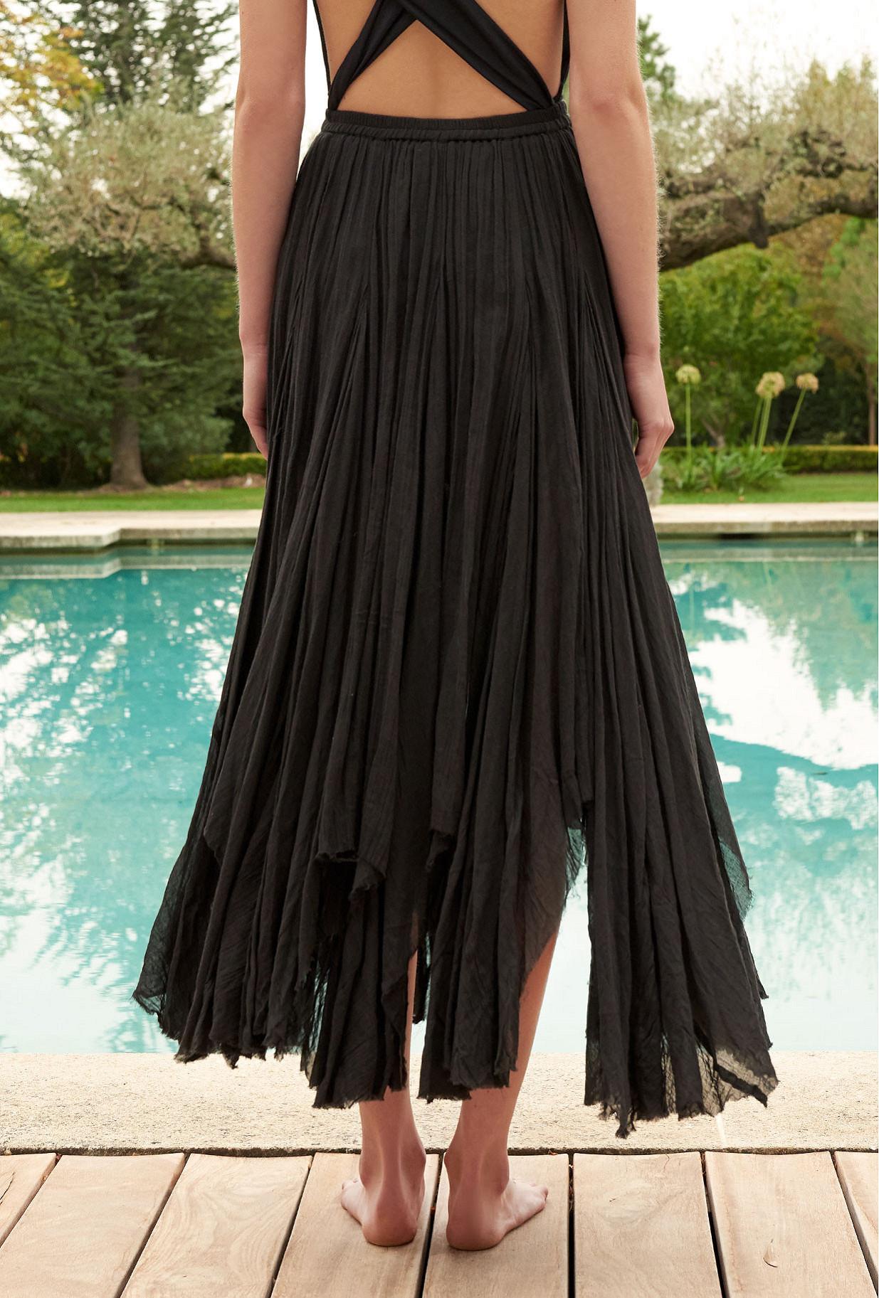 Paris clothes store Skirt  Versatile french designer fashion Paris
