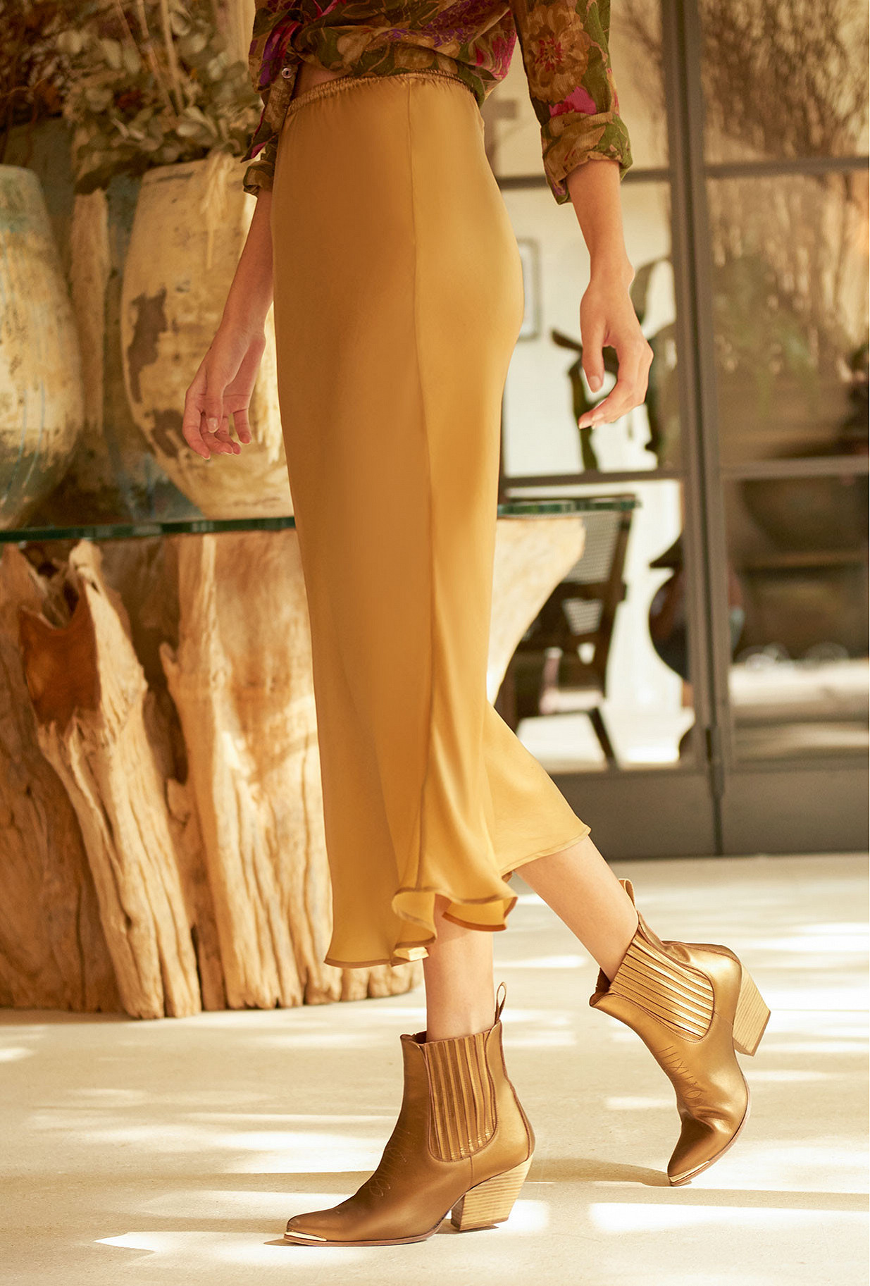 Gold Skirt Lola Mes Demoiselles Paris