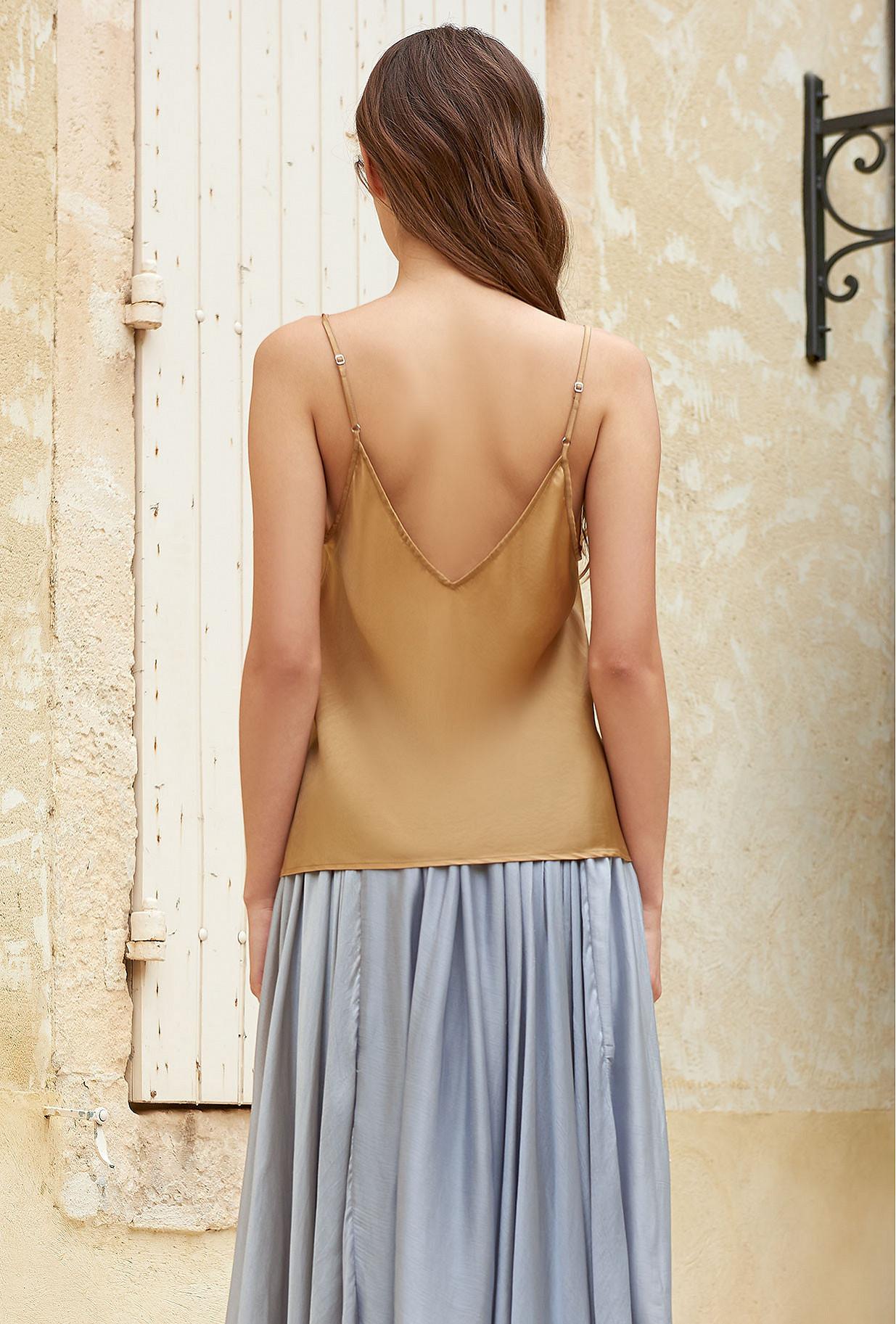 Gold  Top  Lan Mes demoiselles fashion clothes designer Paris