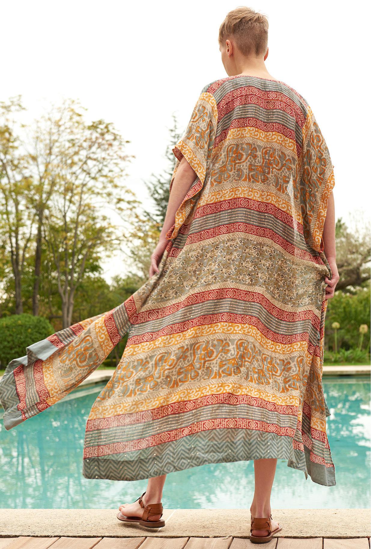 Kimono Imprimé orangé  Katha mes demoiselles paris vêtement femme paris