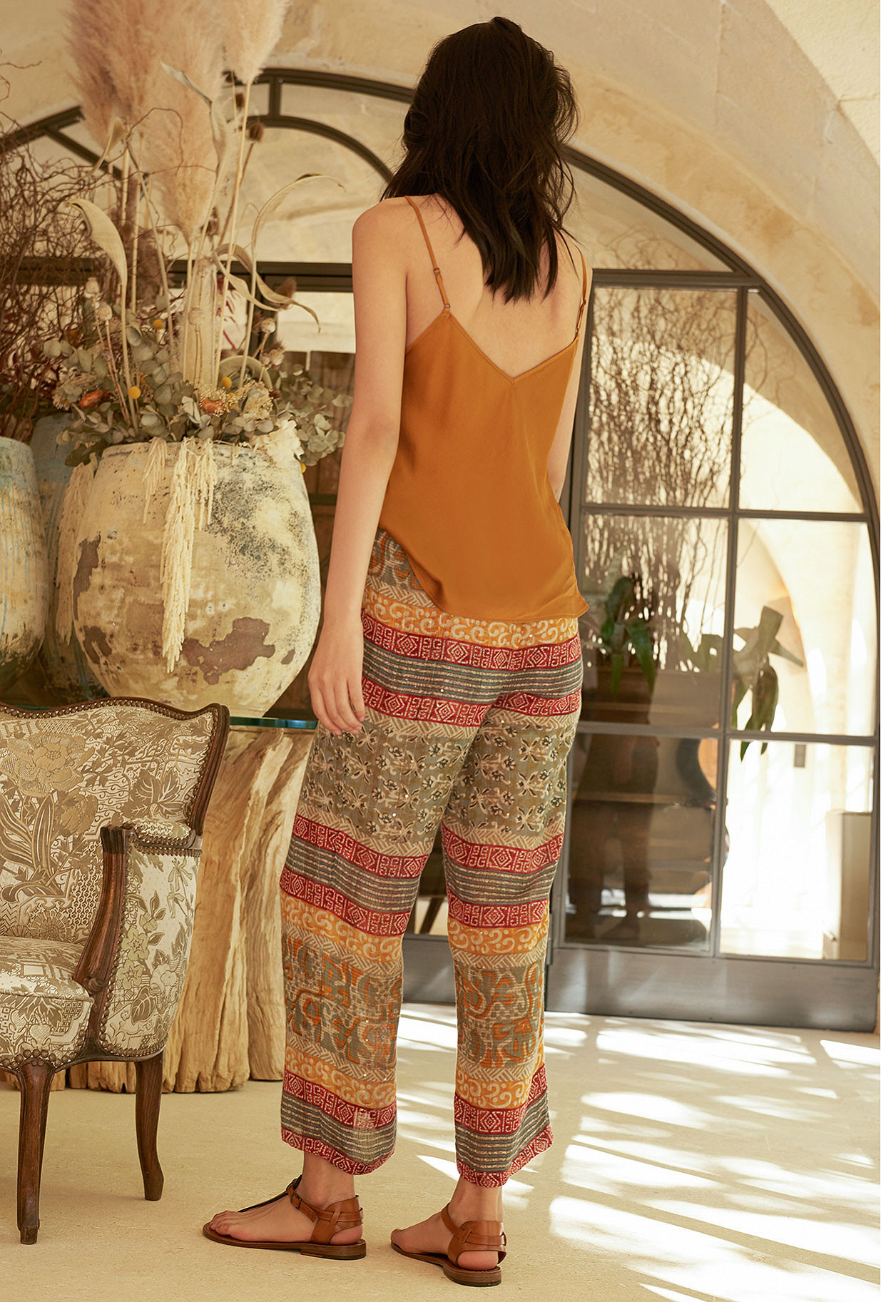 Orange print  Pant  Koi Mes demoiselles fashion clothes designer Paris