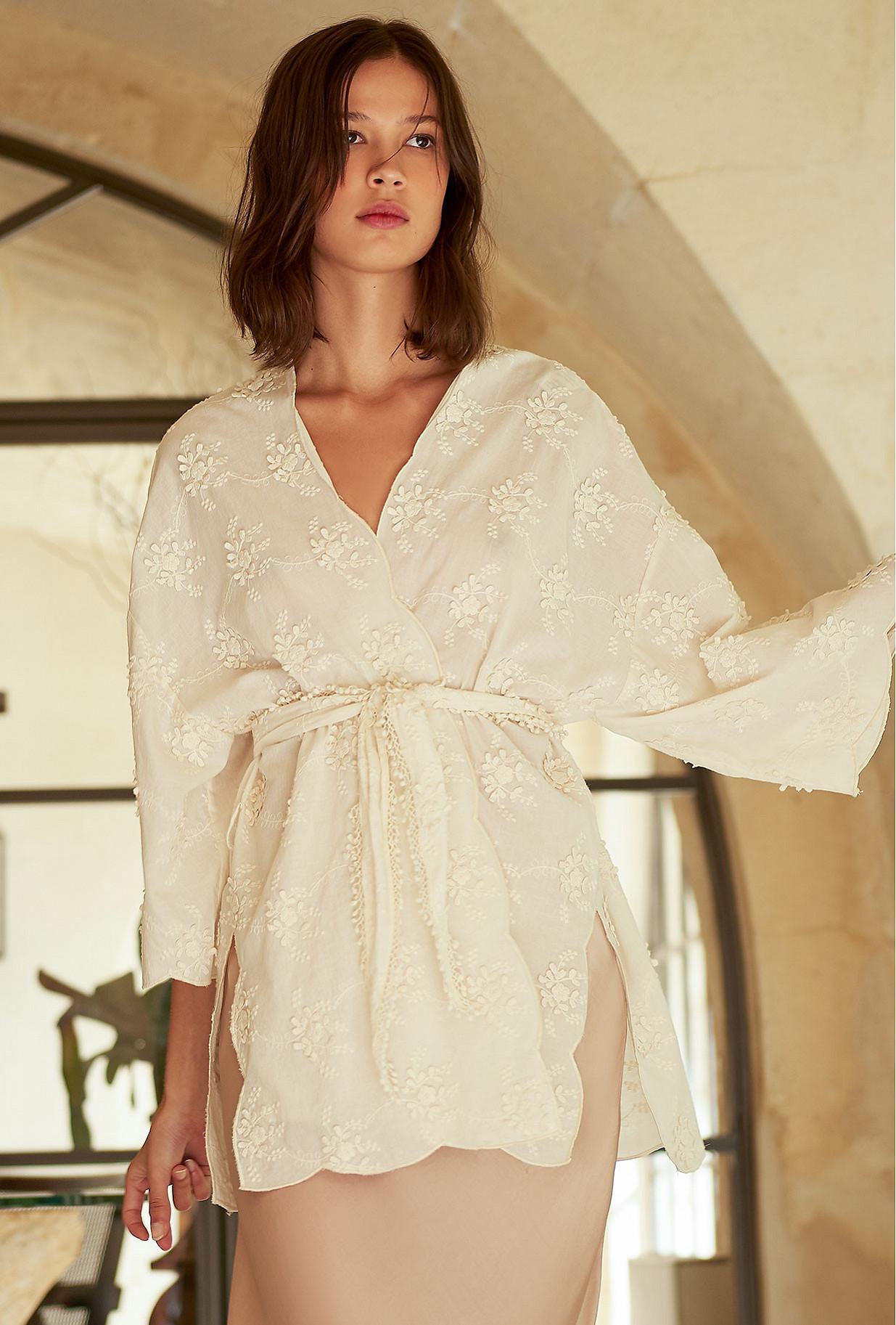 Ecru  Kimono  Ophicalce Mes demoiselles fashion clothes designer Paris