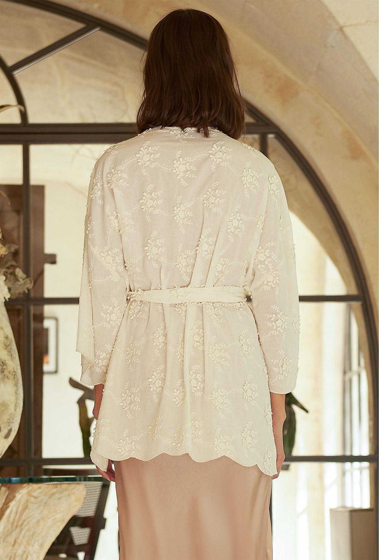 Kimono Écru  Ophicalce mes demoiselles paris vêtement femme paris